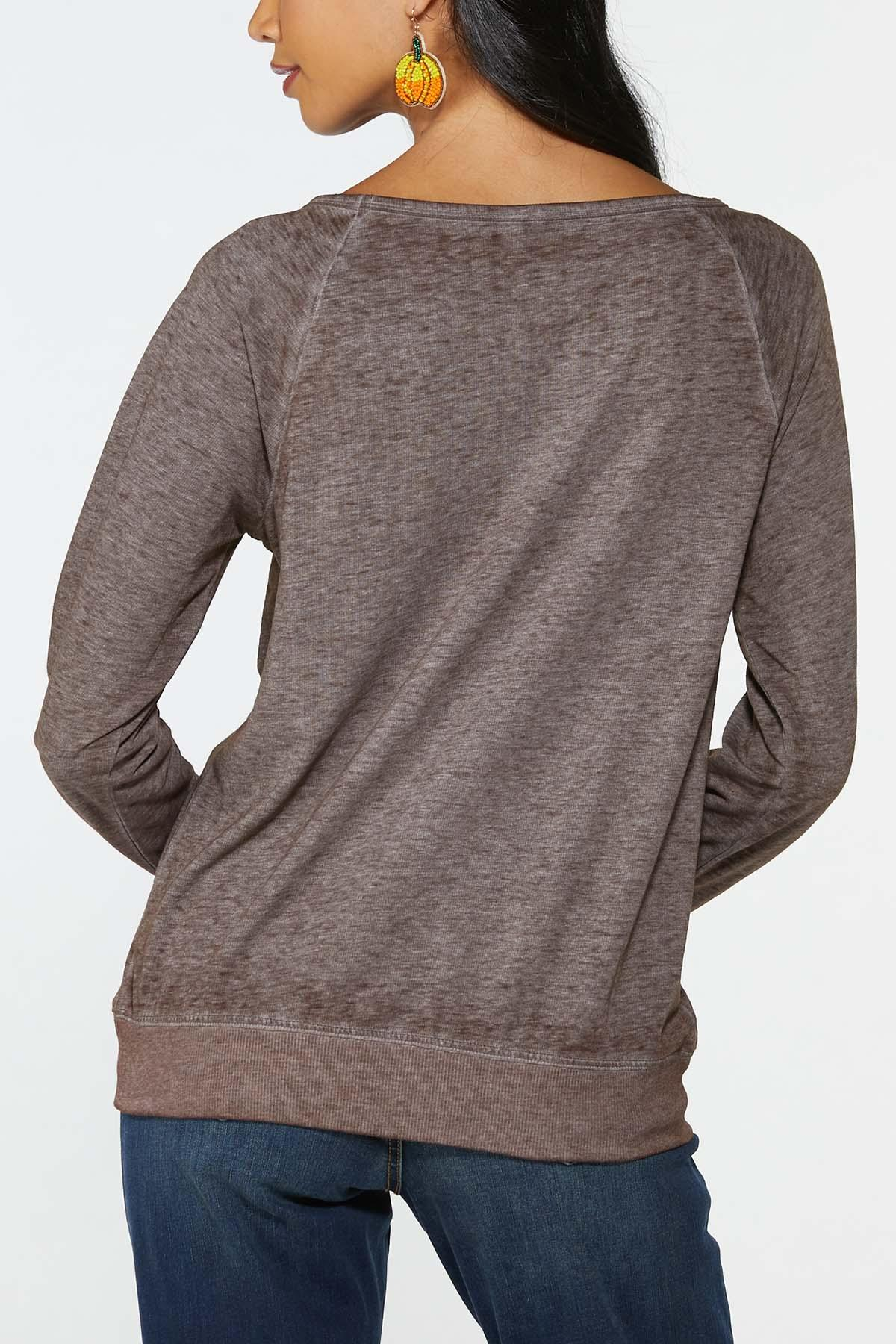 Plus Size Fall Highlights Slouchy Top (Item #44717367)