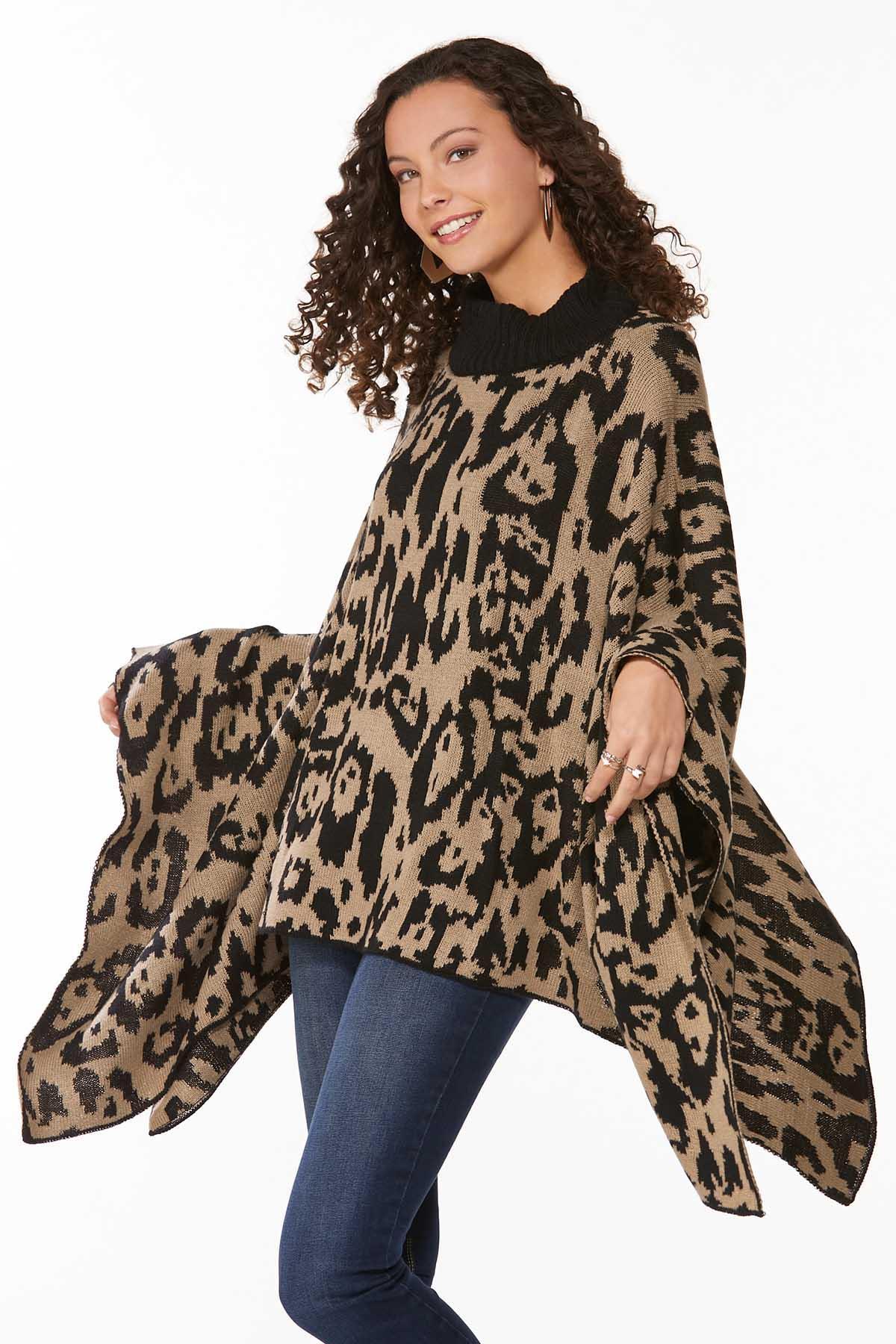 Leopard Printed Poncho (Item #44717809)