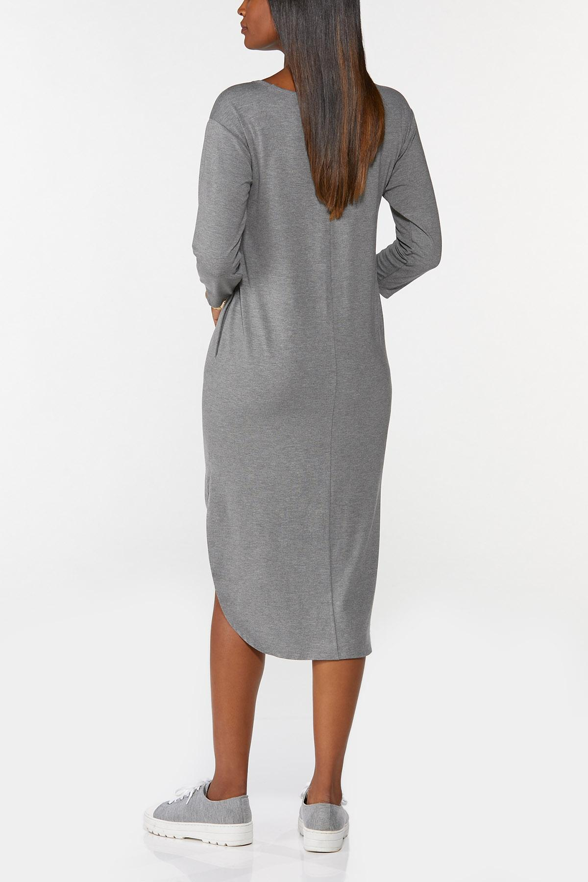 Plus Size Knotted Leopard Heart Shirt Dress (Item #44718246)