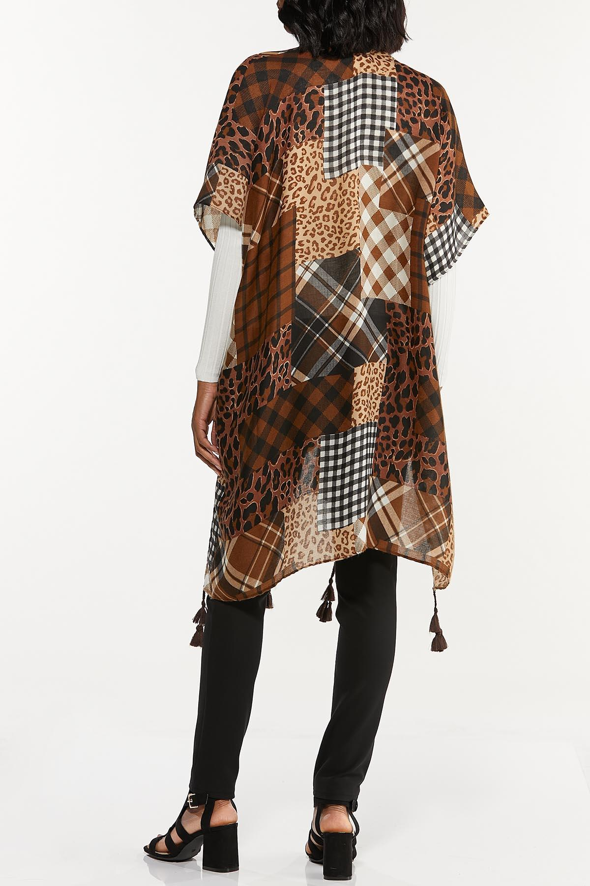 Mixed Patchwork Print Kimono (Item #44718718)