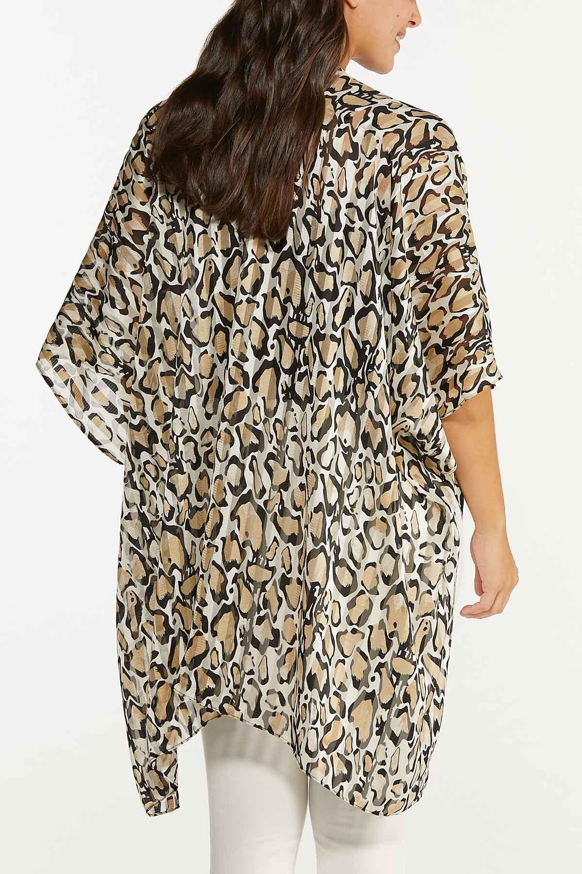 Animal Illusion Stripe Kimono (Item #44718748)