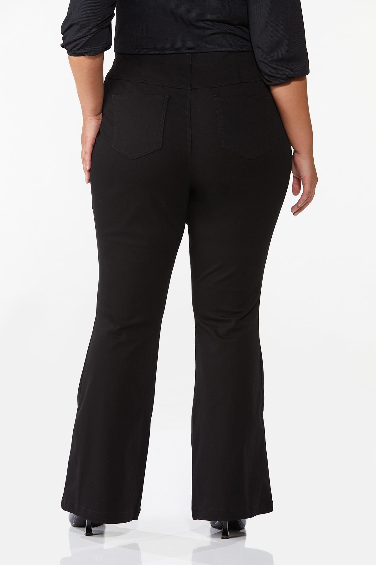 Plus Size Solid Flare Pants (Item #44719265)