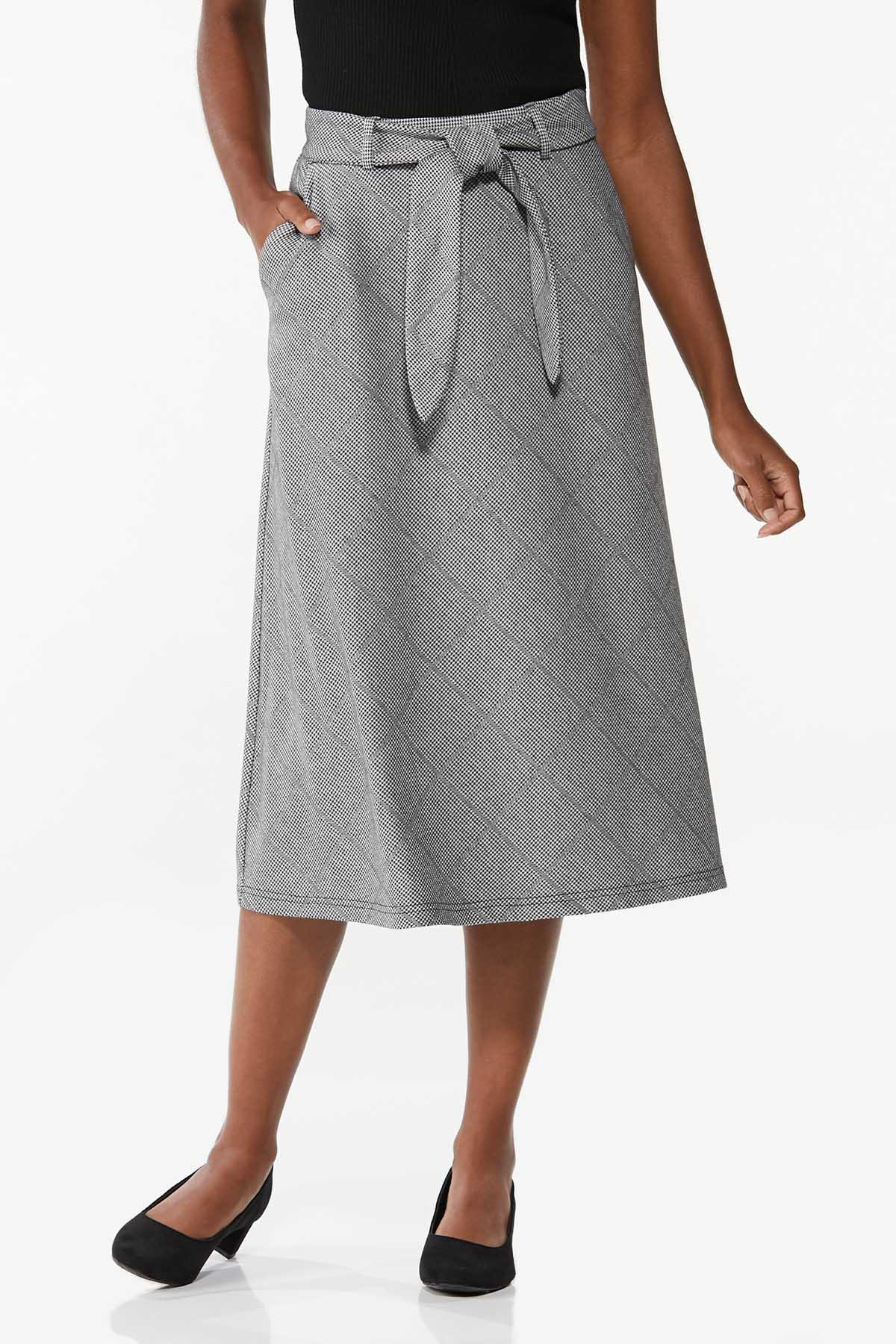 Houndstooth Midi Skirt (Item #44719396)