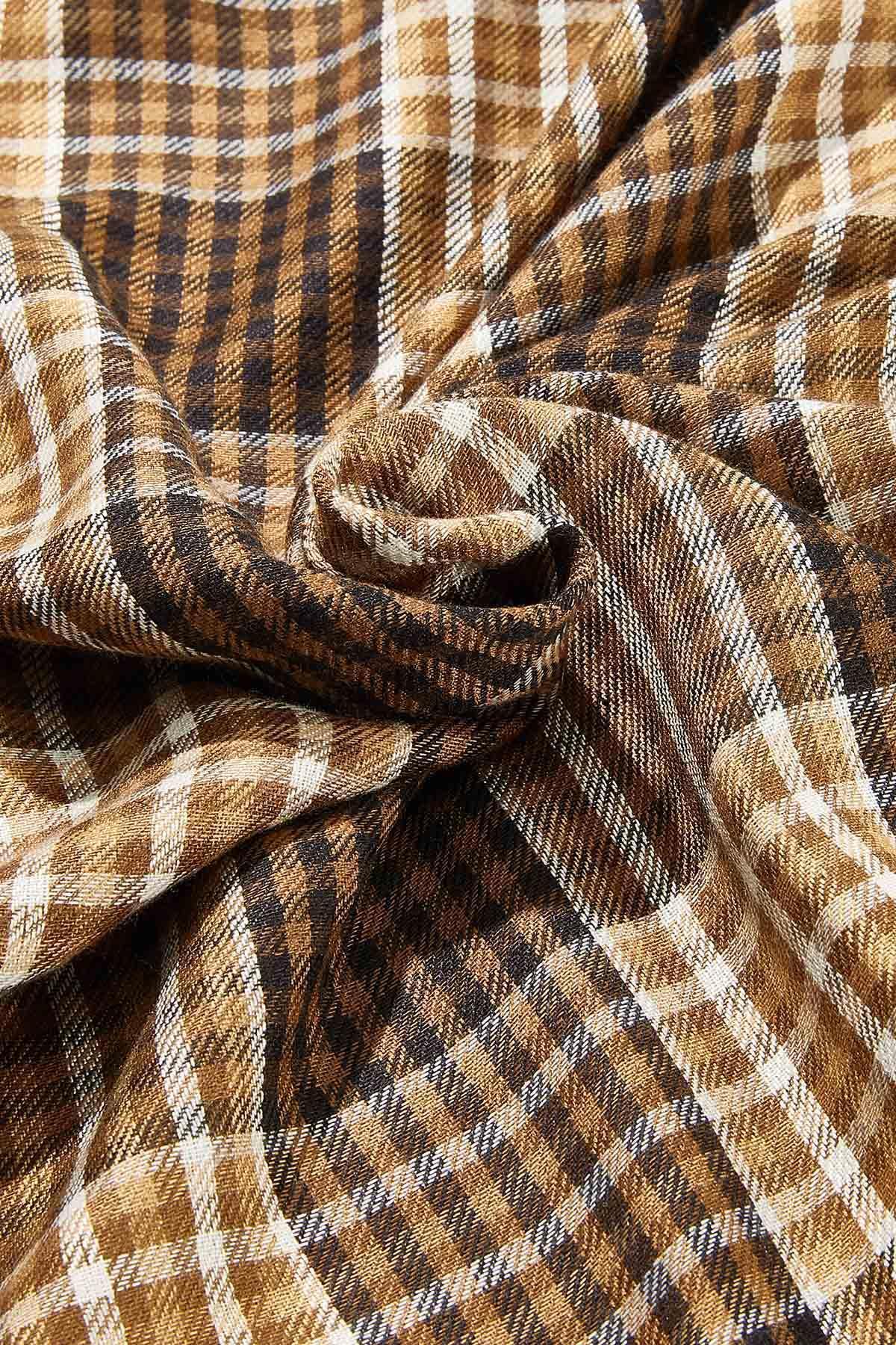 Brown Plaid Infinity Scarf (Item #44719523)