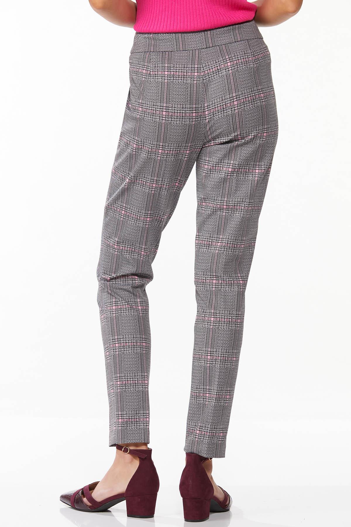Plaid Hint Of Pink Pants (Item #44719775)