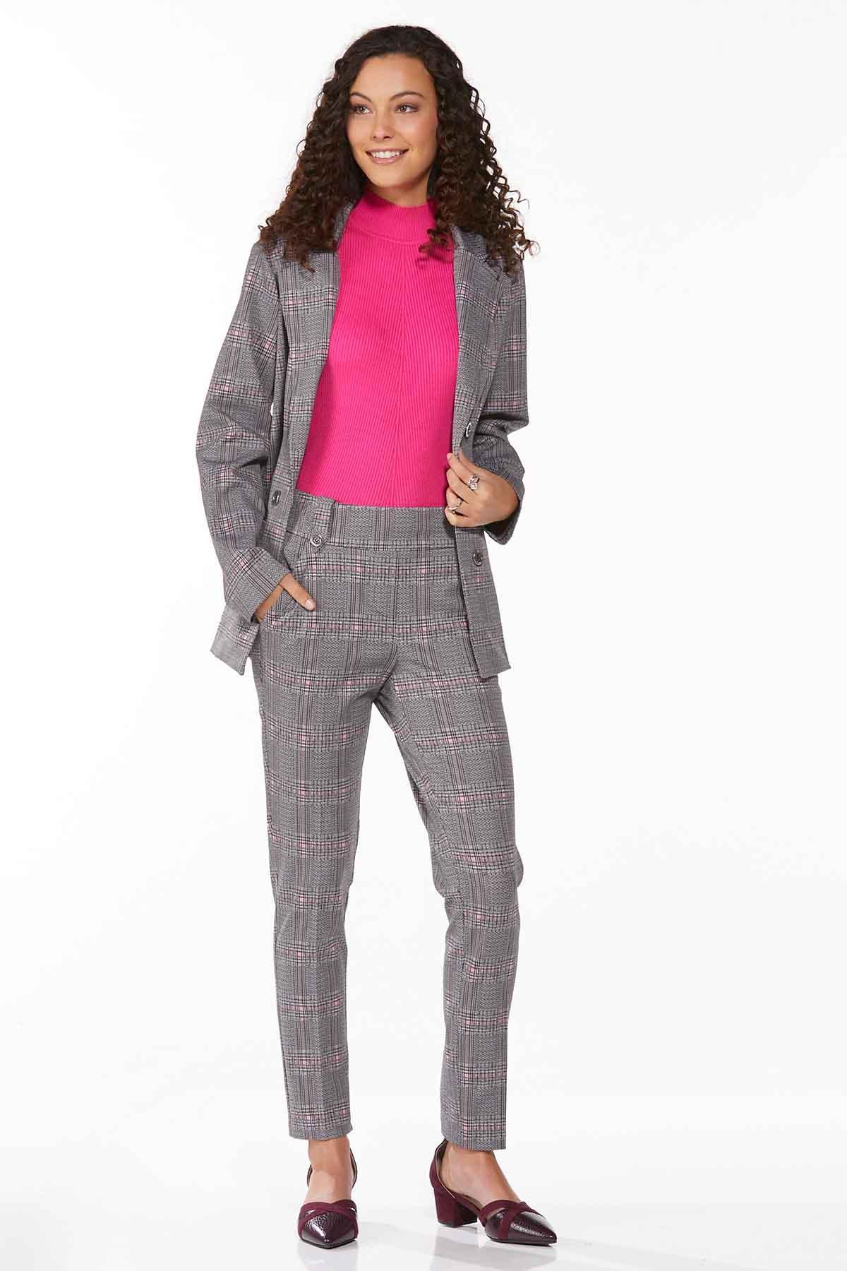 Petite Plaid Hint Of Pink Pants (Item #44719815)