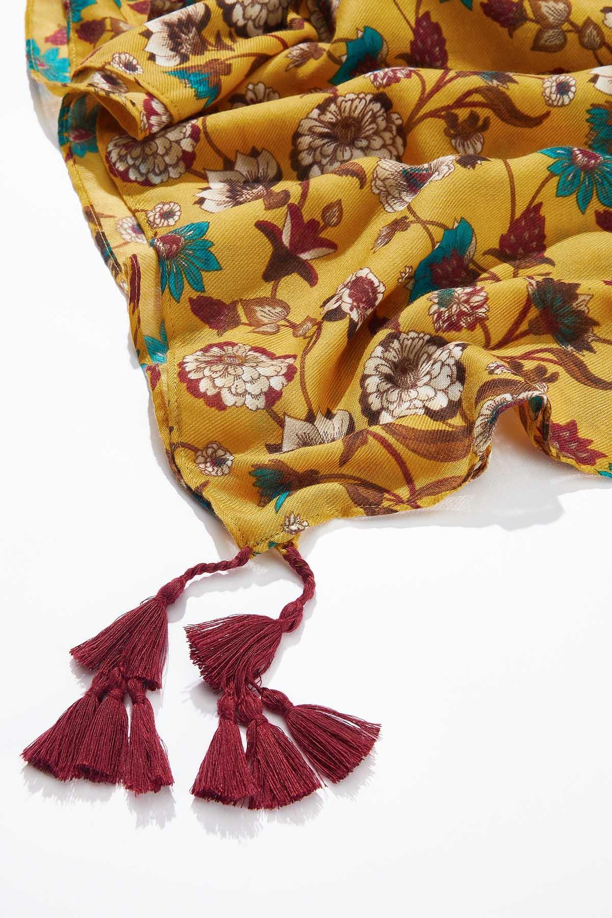 Golden Floral Oblong Scarf (Item #44720044)