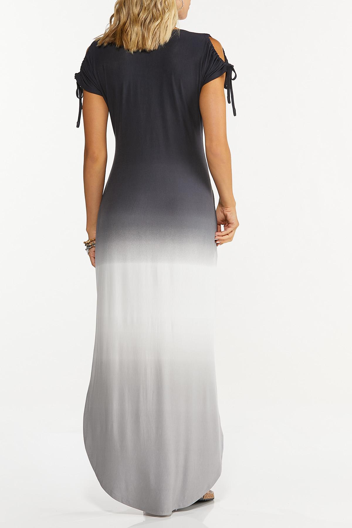 Tie Dye Cold Shoulder Dress (Item #44720958)