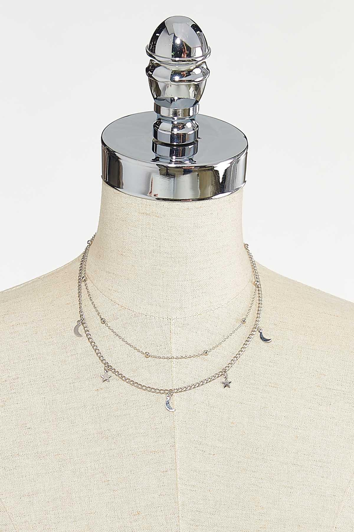 Layered Star Moon Necklace (Item #44721609)