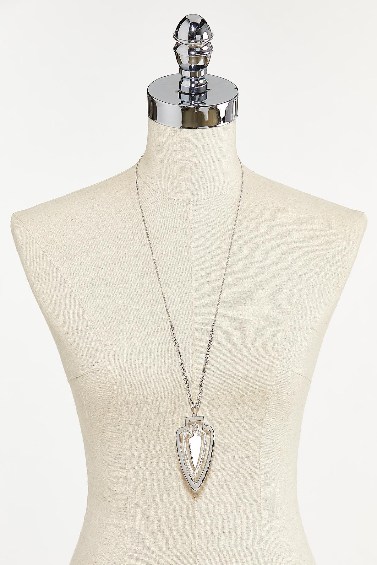 Hammered Arrowhead Pendant Necklace (Item #44721633)