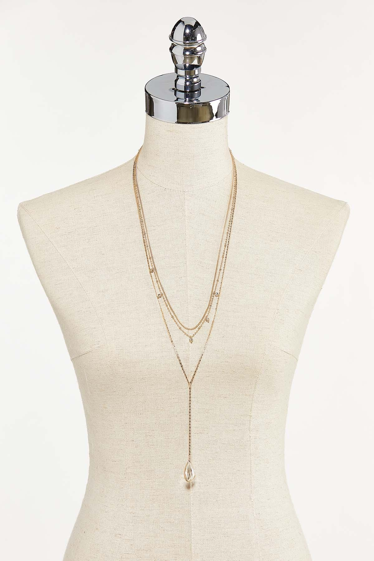 Faceted Glass Y-Necklace (Item #44721683)