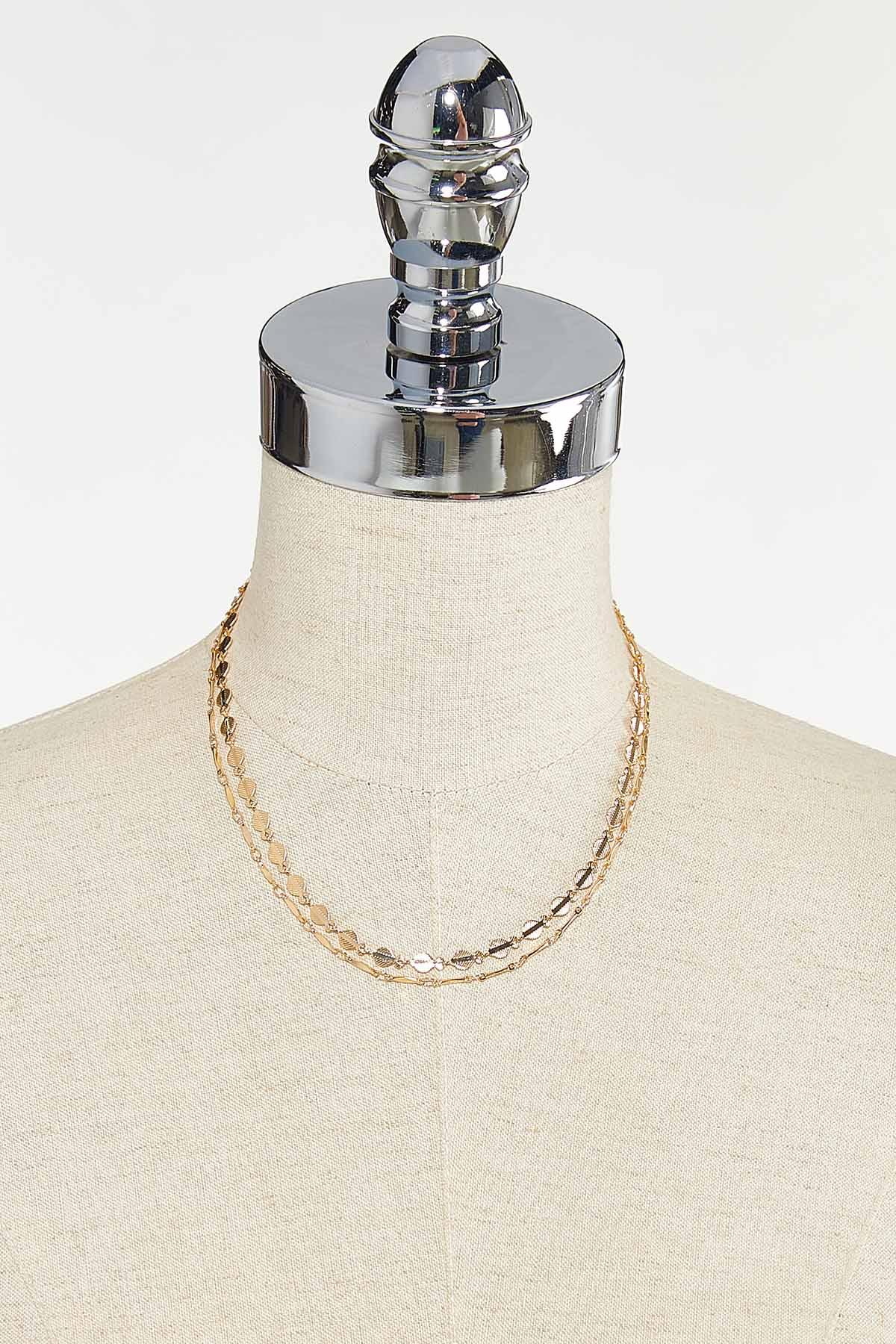 Gold Layered Chain Necklace (Item #44721695)