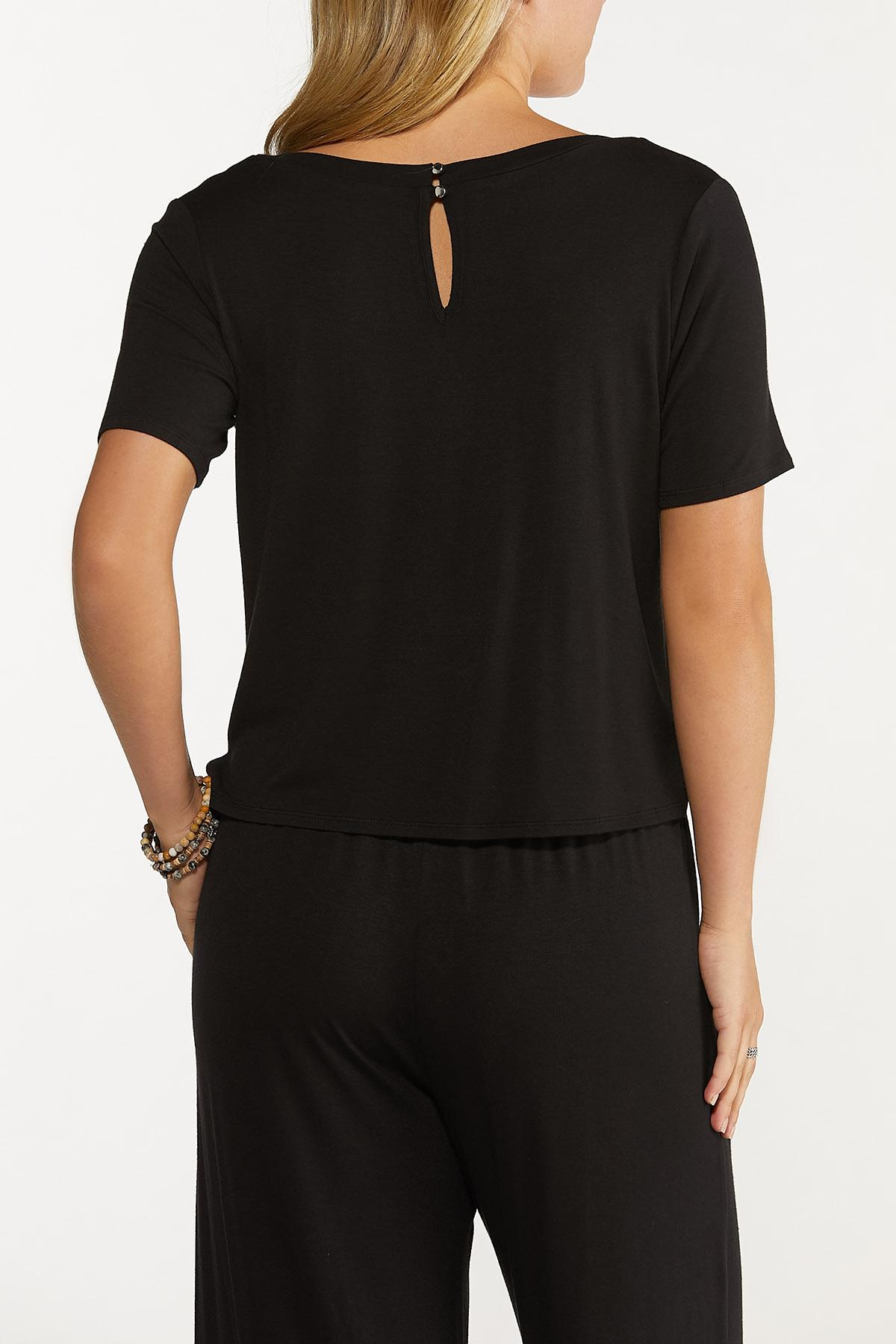 Black V-Neck Top (Item #44722638)