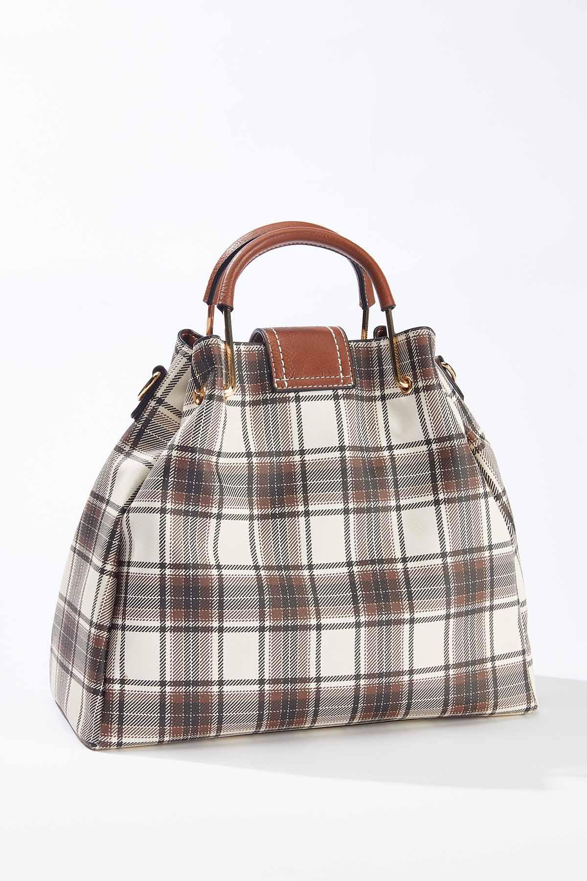 Plaid Bucket Handbag (Item #44722929)