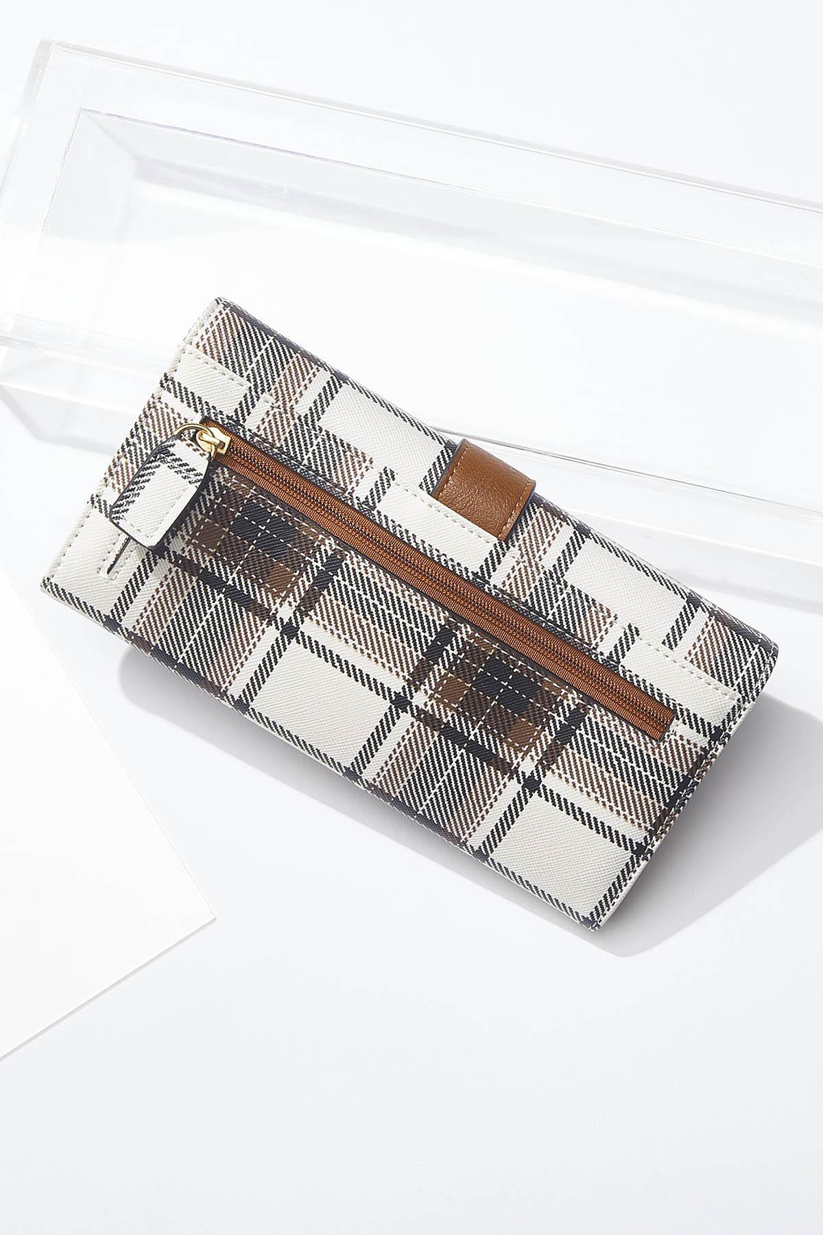 Buckle Strap Plaid Wallet (Item #44722975)