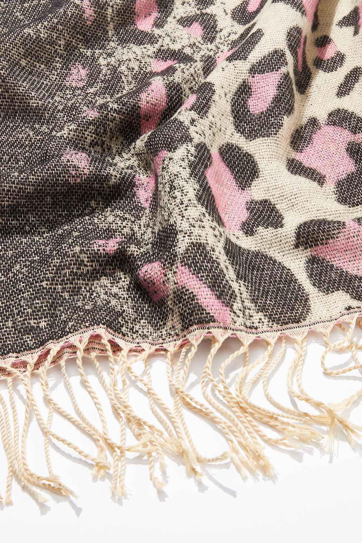 Pop Of Pink Leopard Scarf (Item #44723598)