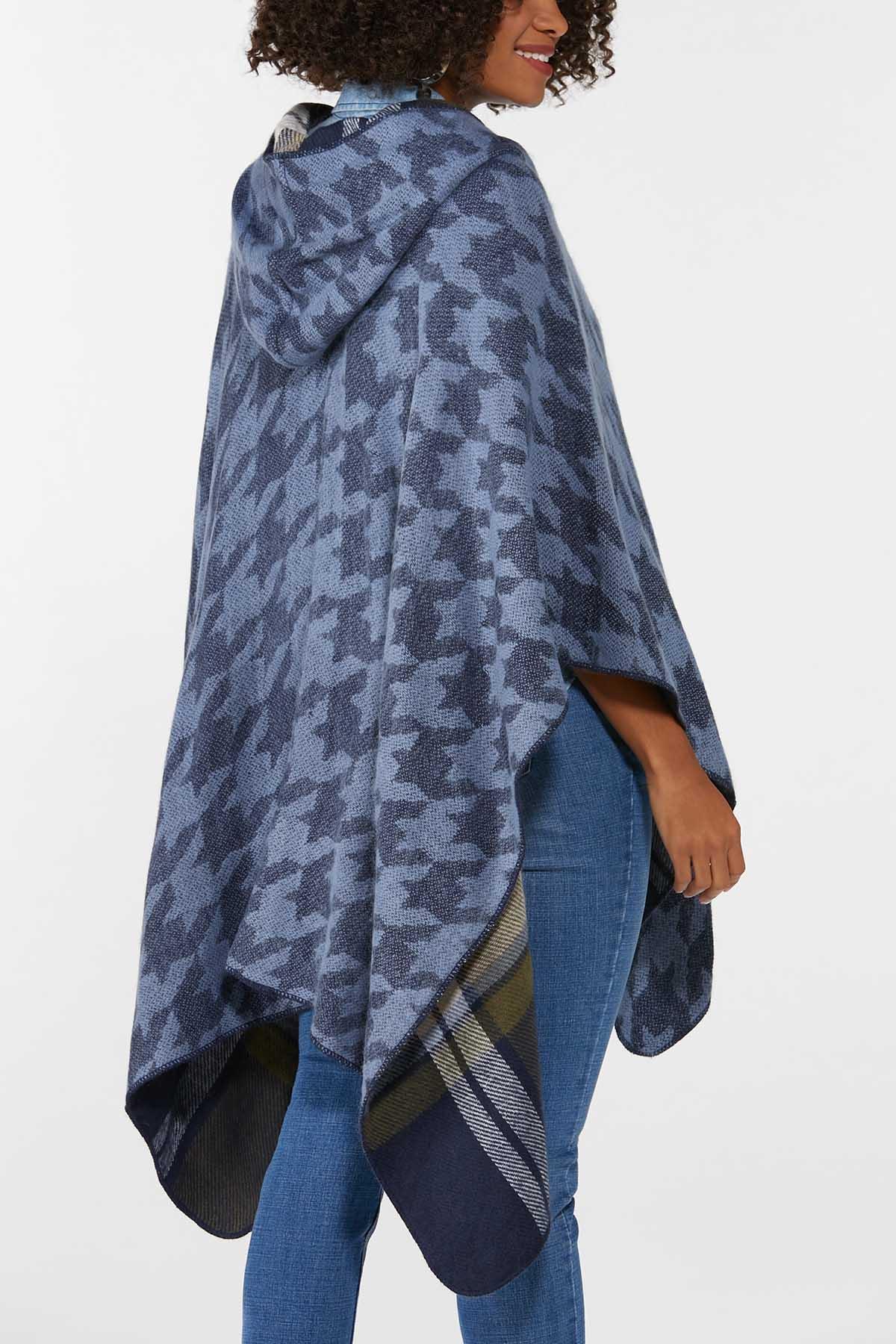 Plaid Hooded Poncho (Item #44724222)