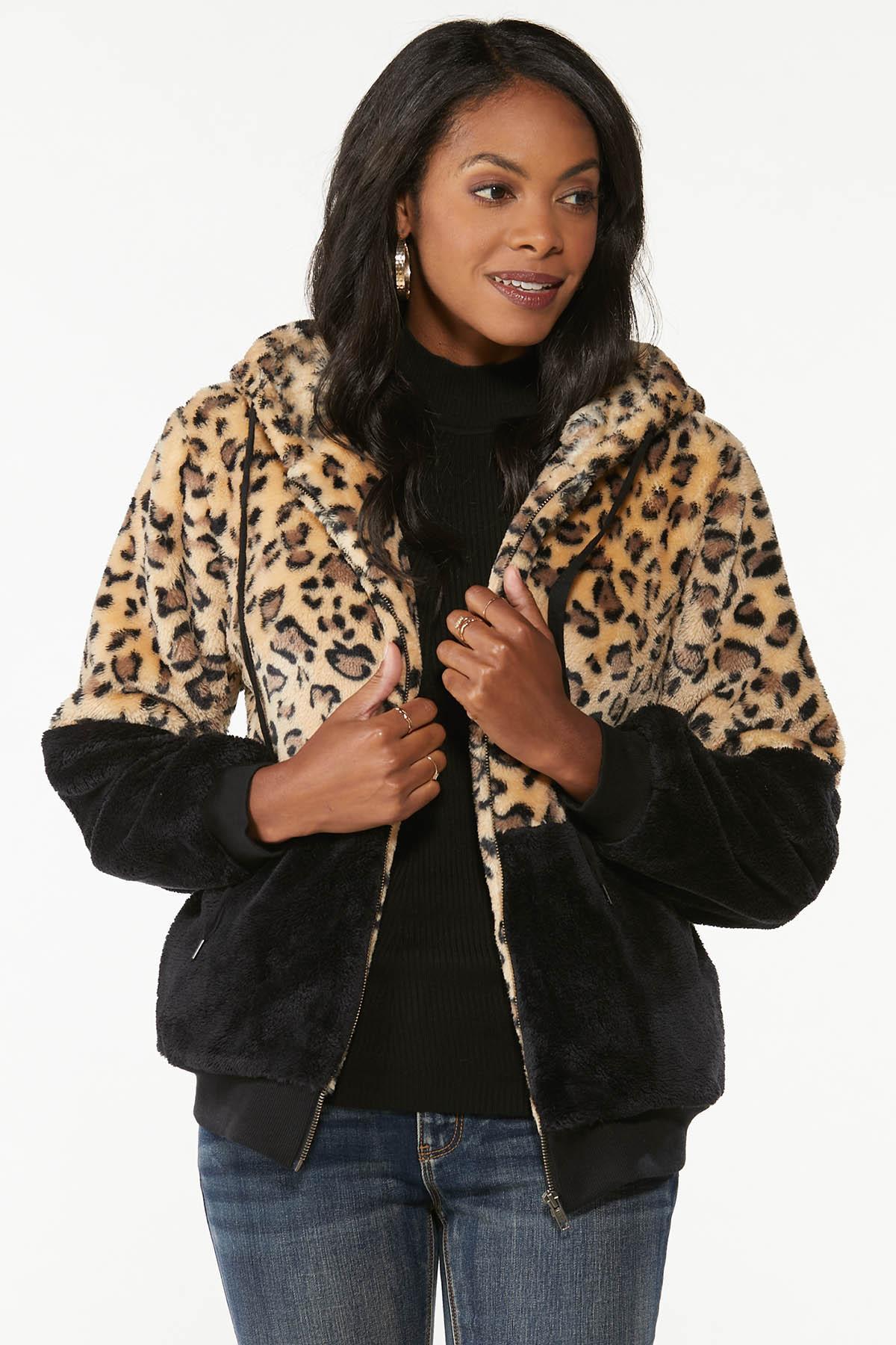 Colorblock Faux Fur Jacket (Item #44725379)