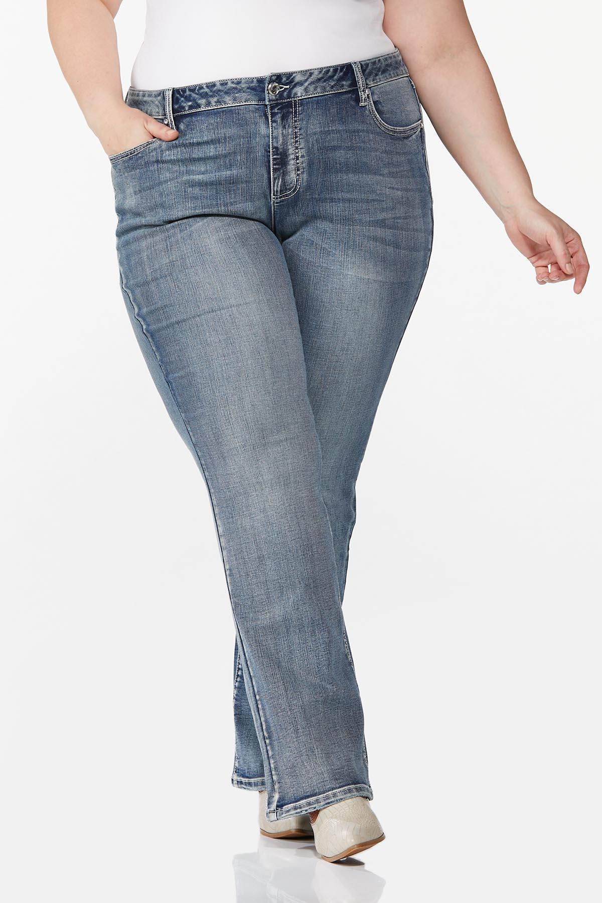 Plus Size Embellished Curvy Jeans (Item #44726524)