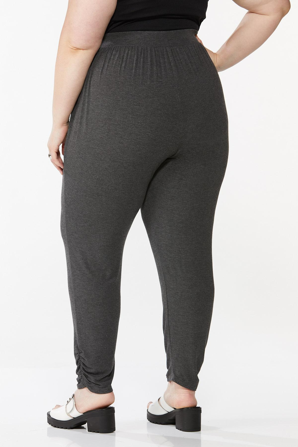 Plus Size Charcoal Pull-On Pants (Item #44730061)