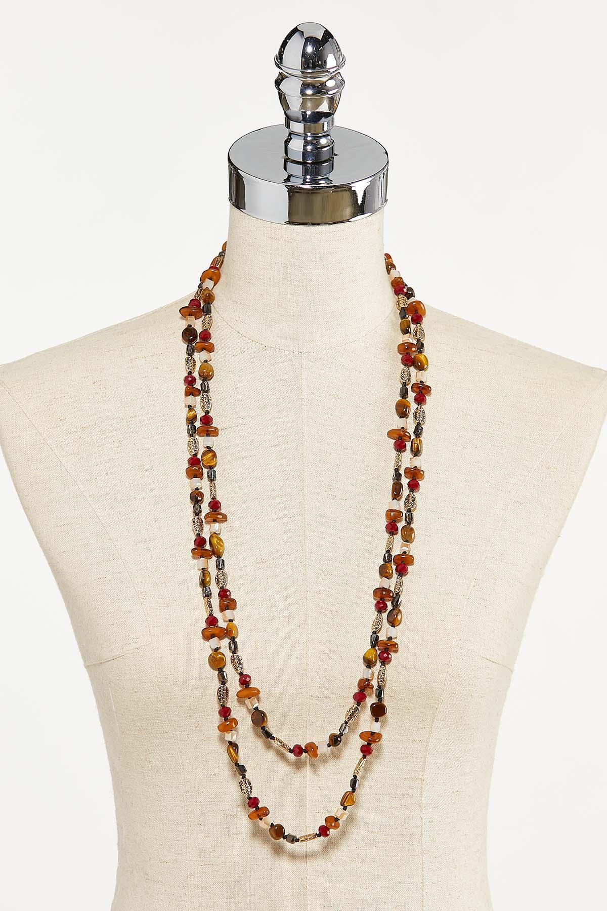 Long Multi Stone Necklace (Item #44731252)