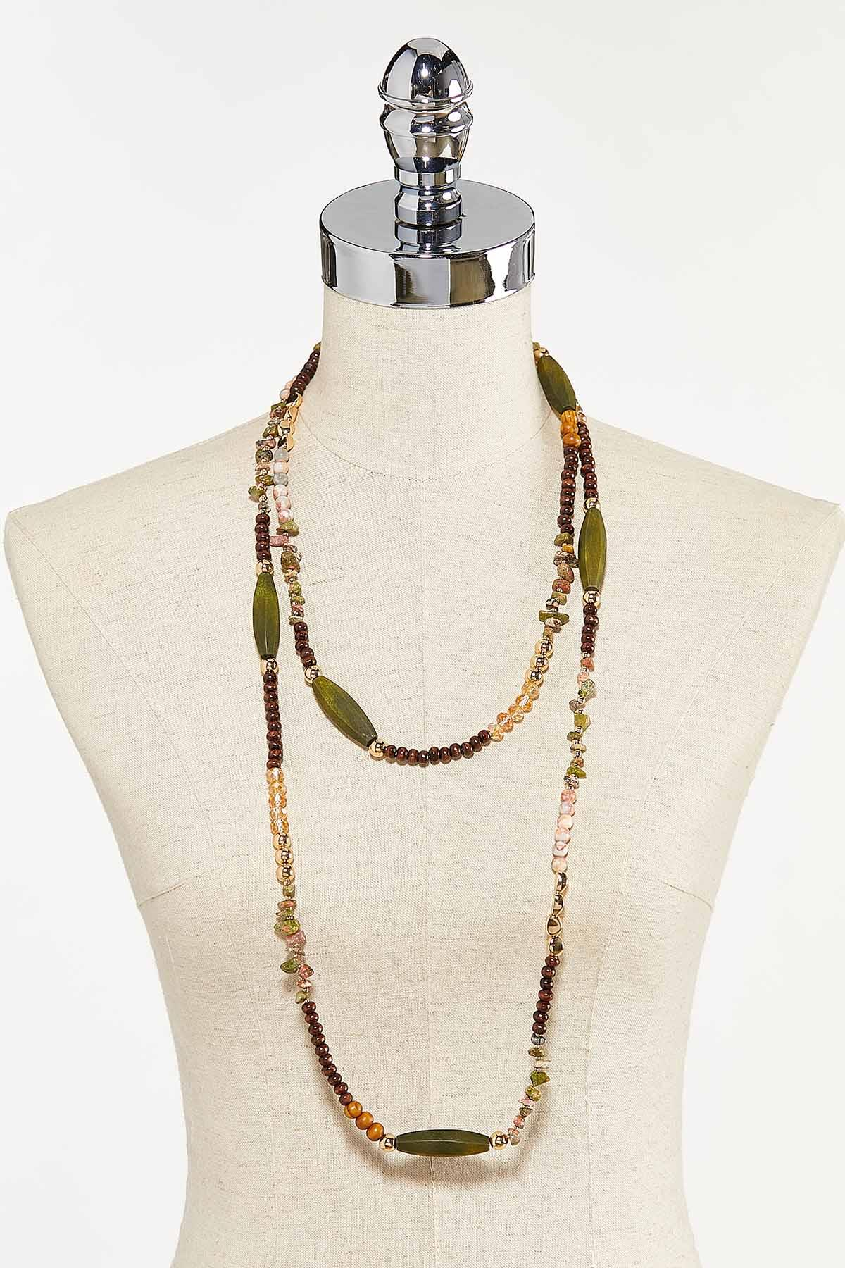 Neutral Layered Bead Necklace (Item #44731257)