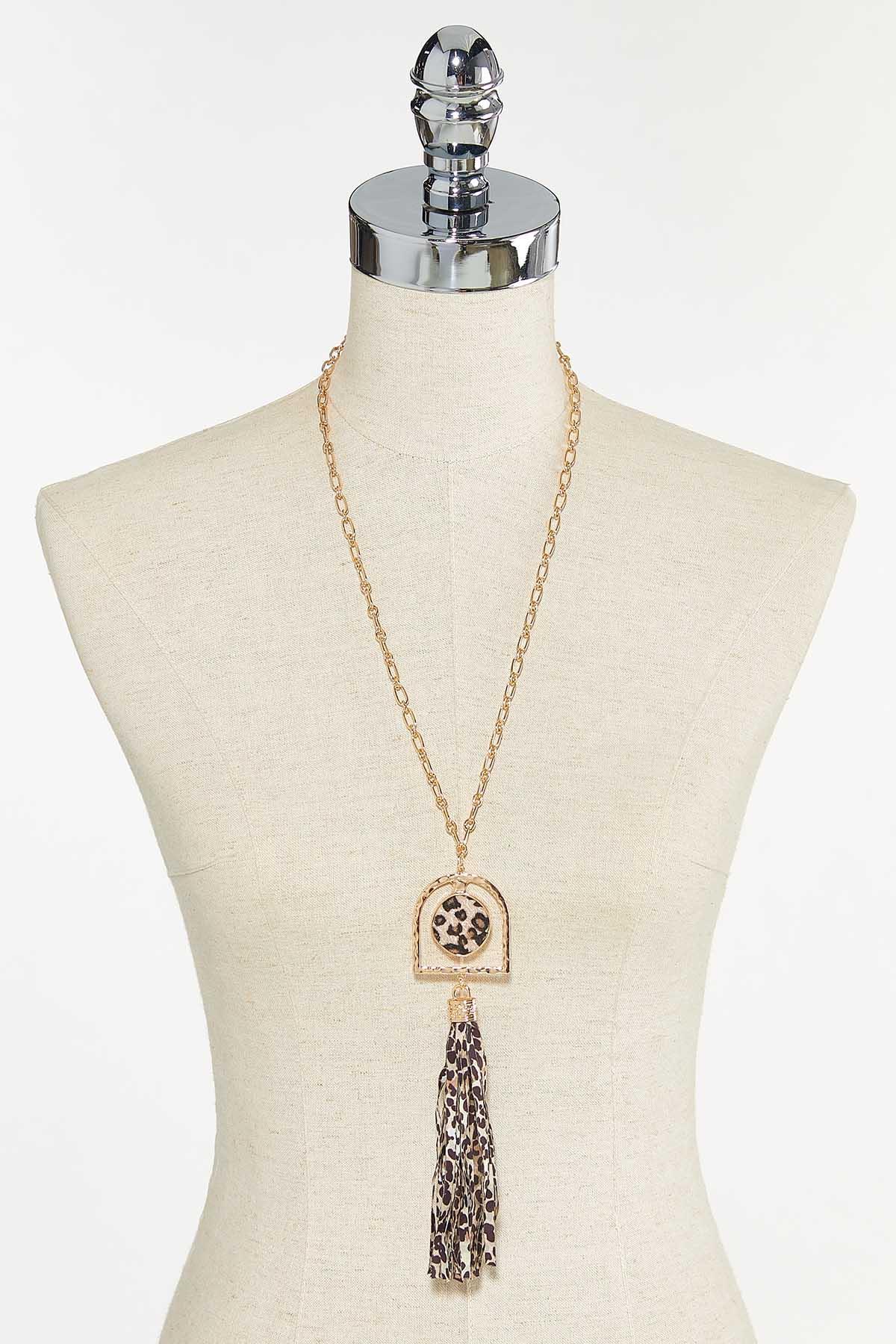 Leopard Tassel Pendant Necklace (Item #44731259)