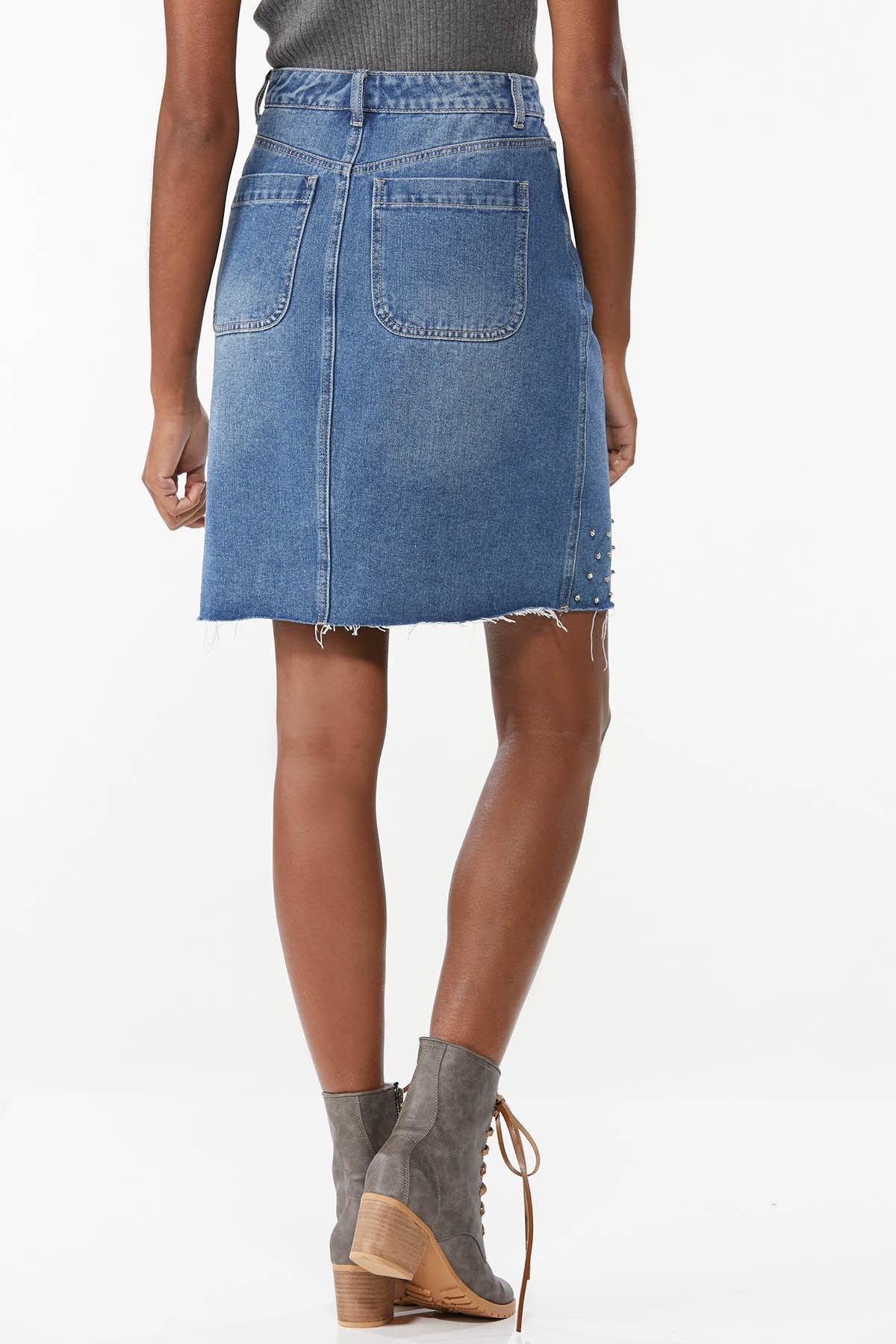 Embellished Denim Skirt (Item #44734212)