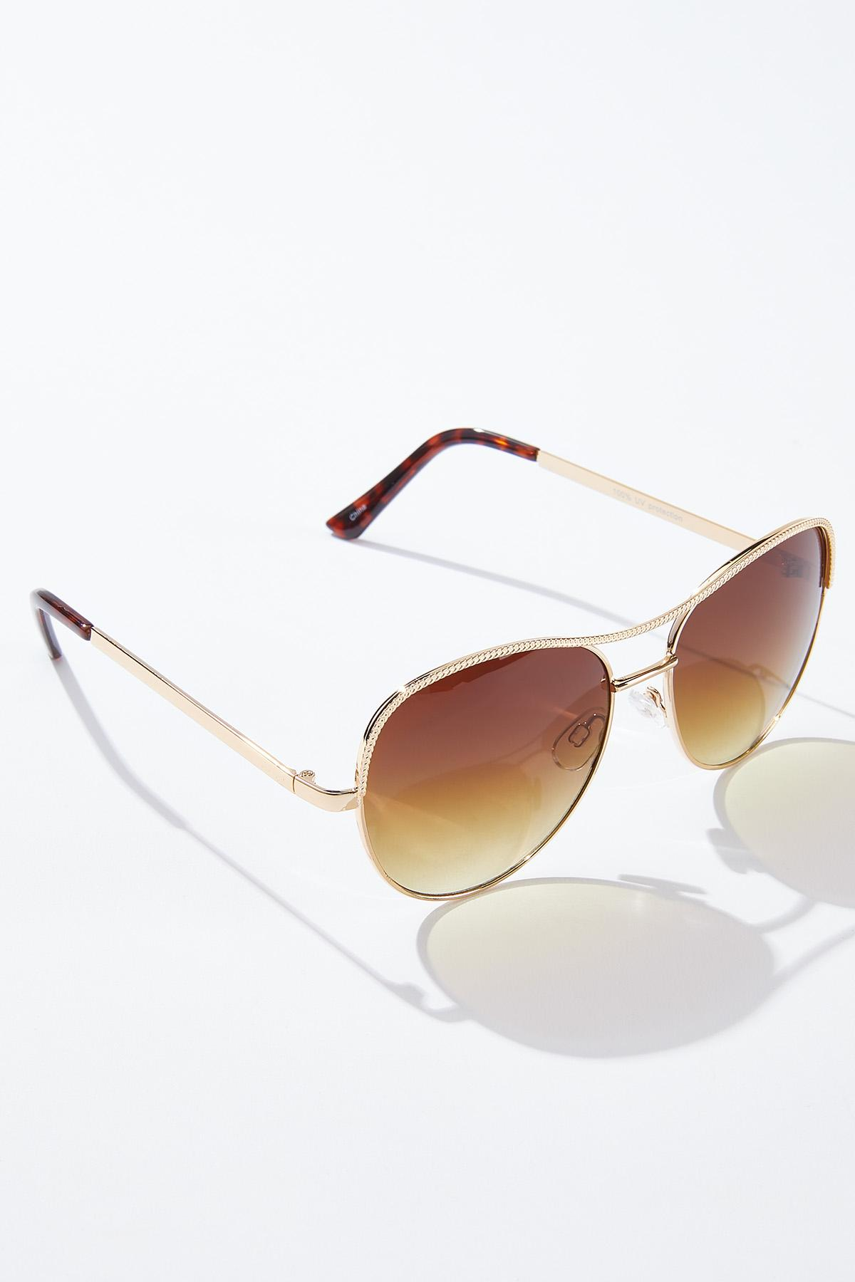Gold Dust Aviator Sunglasses (Item #44735654)