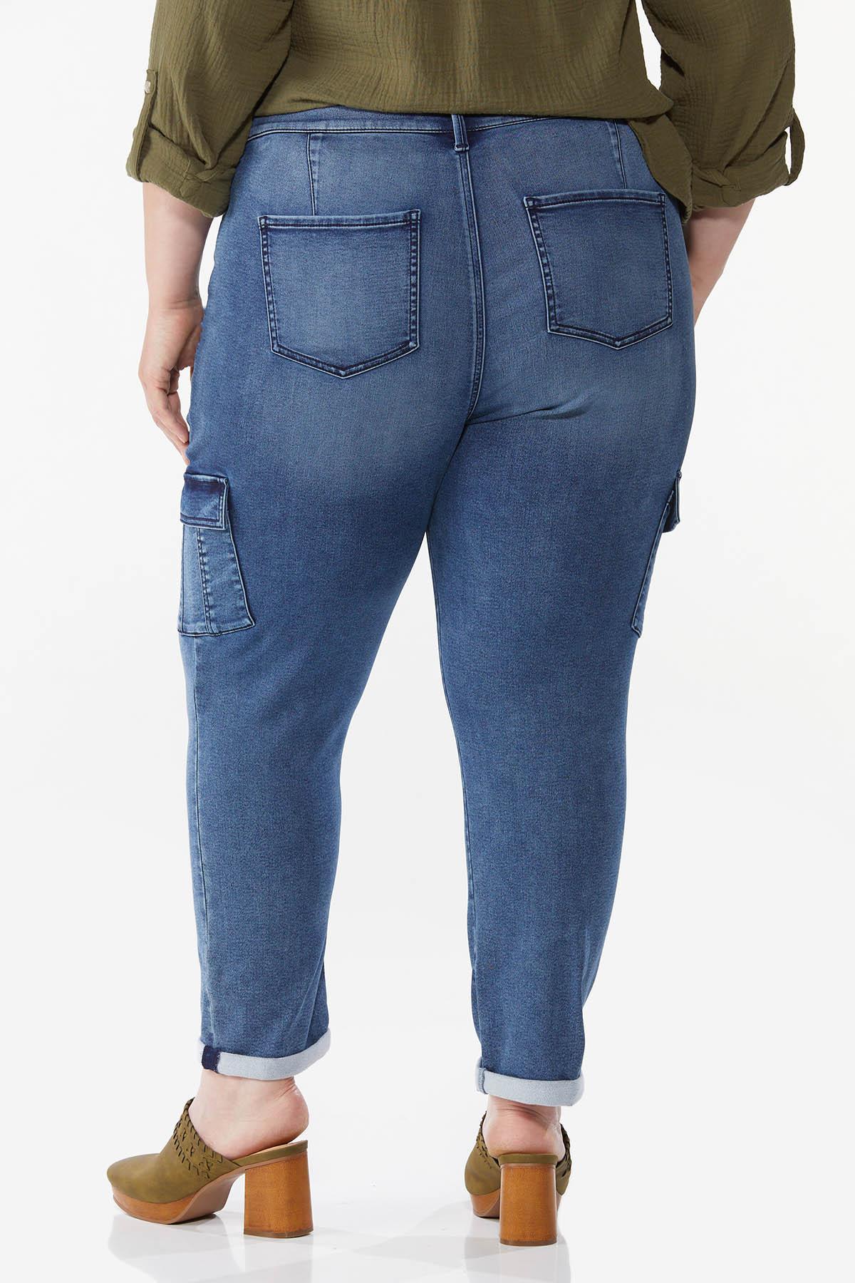 Plus Size Stretch Utility Jeans (Item #44735854)