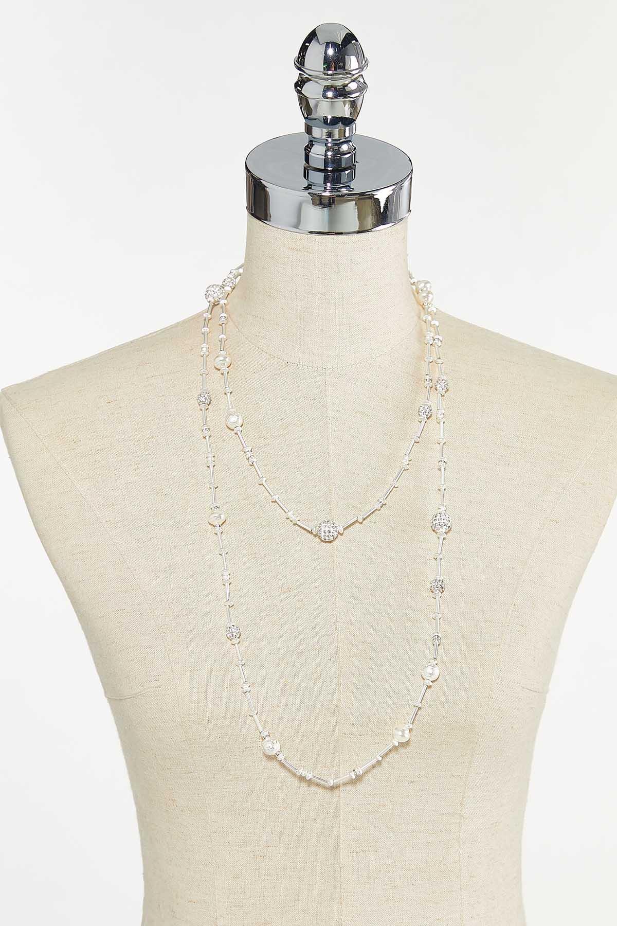 Pearl Metal Bar Necklace (Item #44735989)