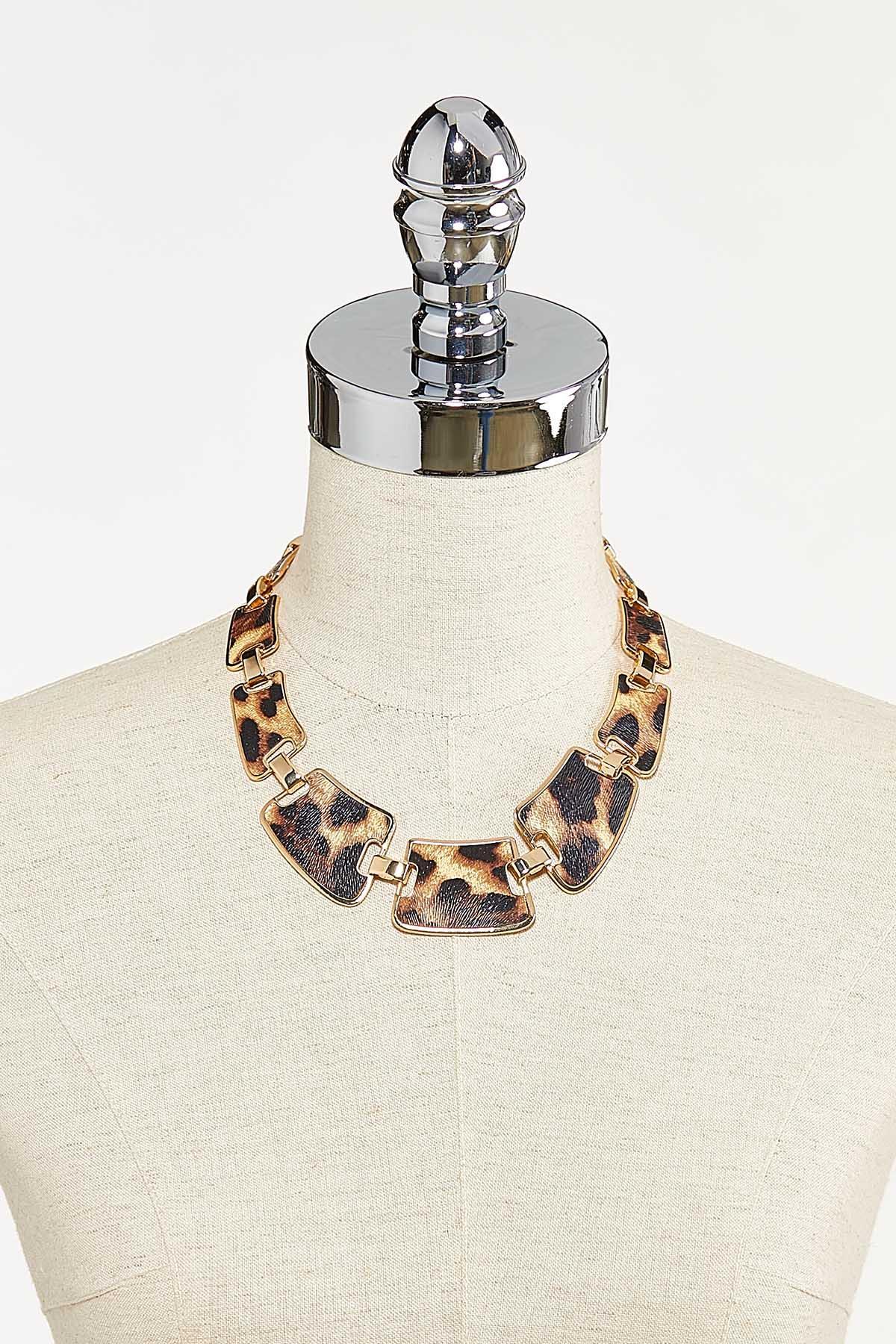 Chunky Leopard Link Necklace (Item #44736070)