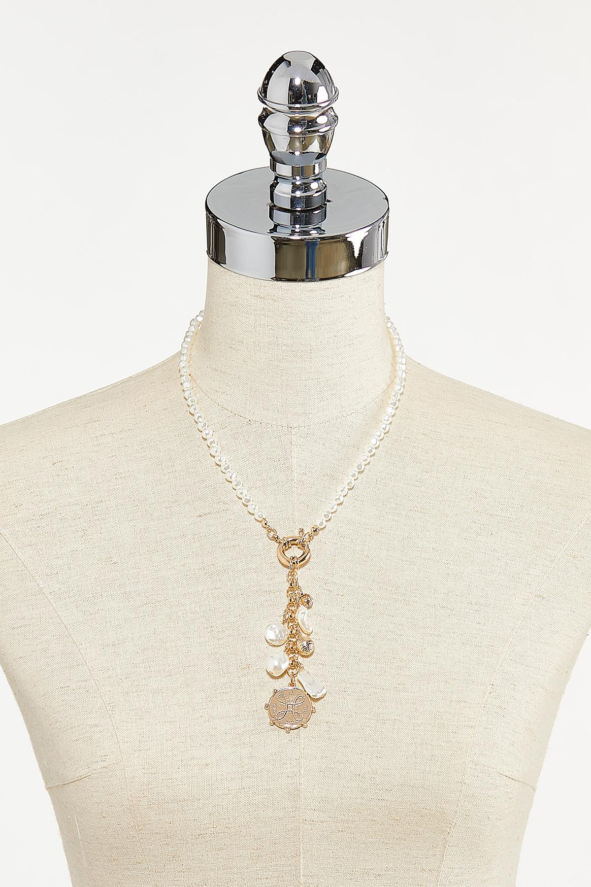 Pearl Coin Charm Necklace (Item #44736291)