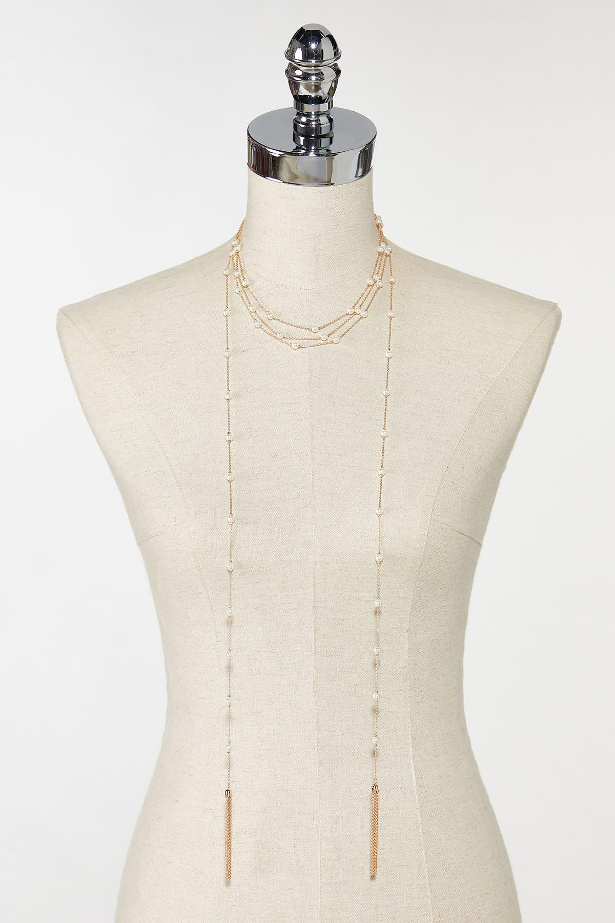 Tasseled Pearl Wrap Necklace (Item #44736579)