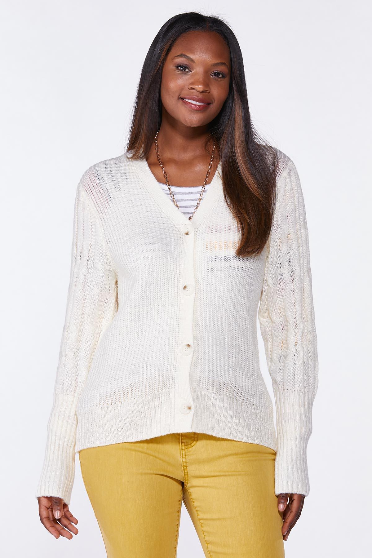 Ivory Cardigan Sweater (Item #44739557)