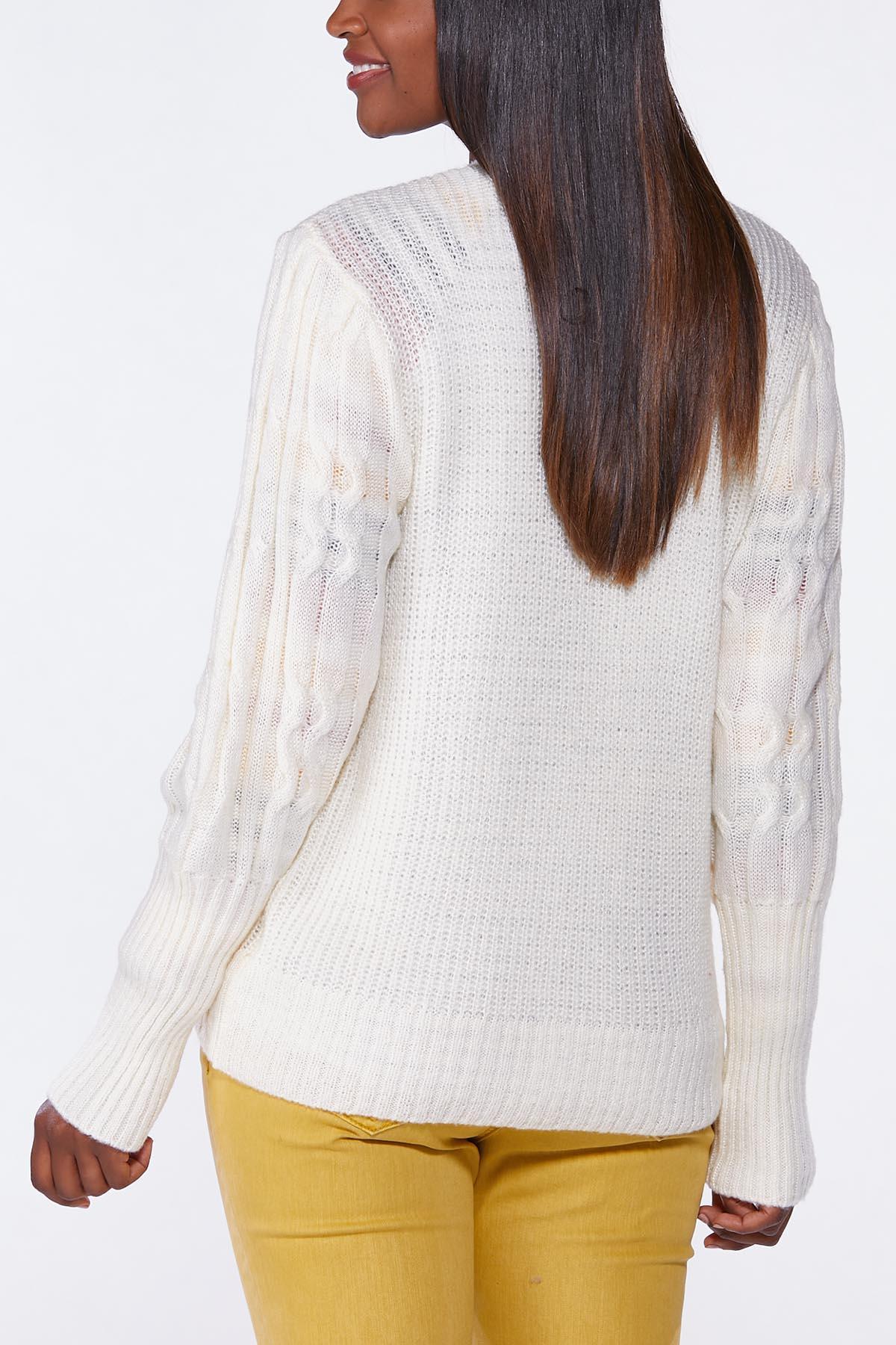 Plus Size Ivory Cardigan Sweater (Item #44739590)