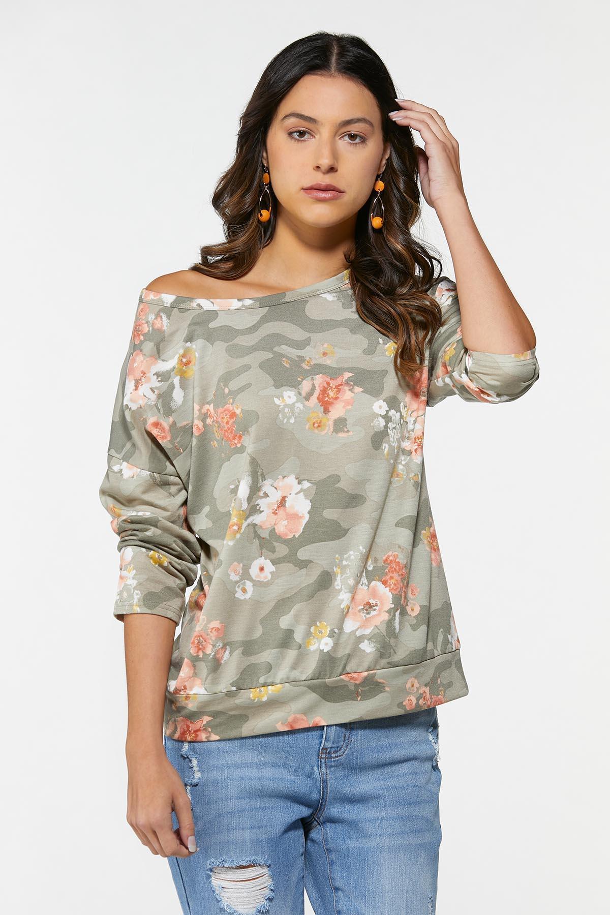 Olive Floral Sweatshirt (Item #44740925)