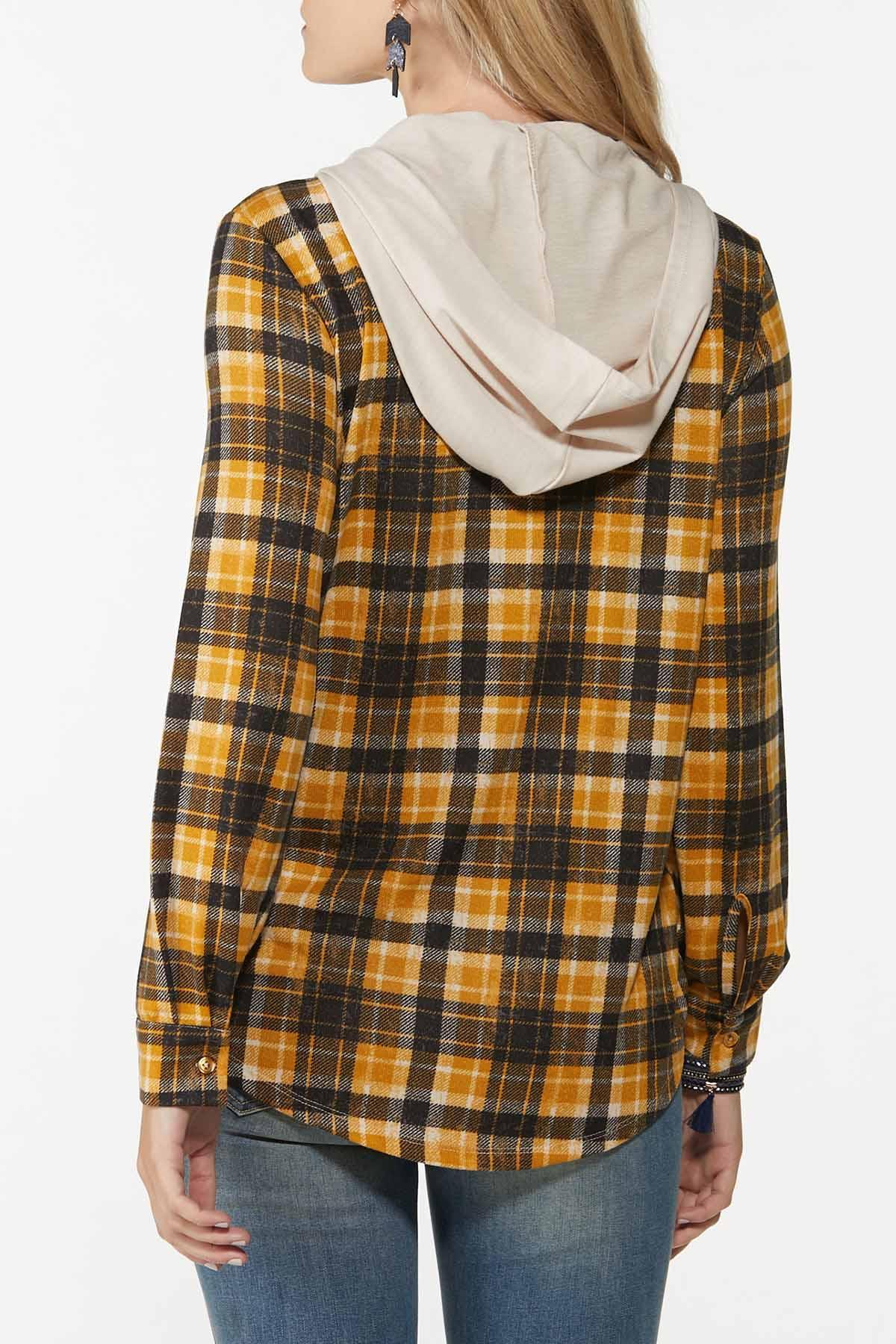 Plaid Hooded Shacket (Item #44740991)