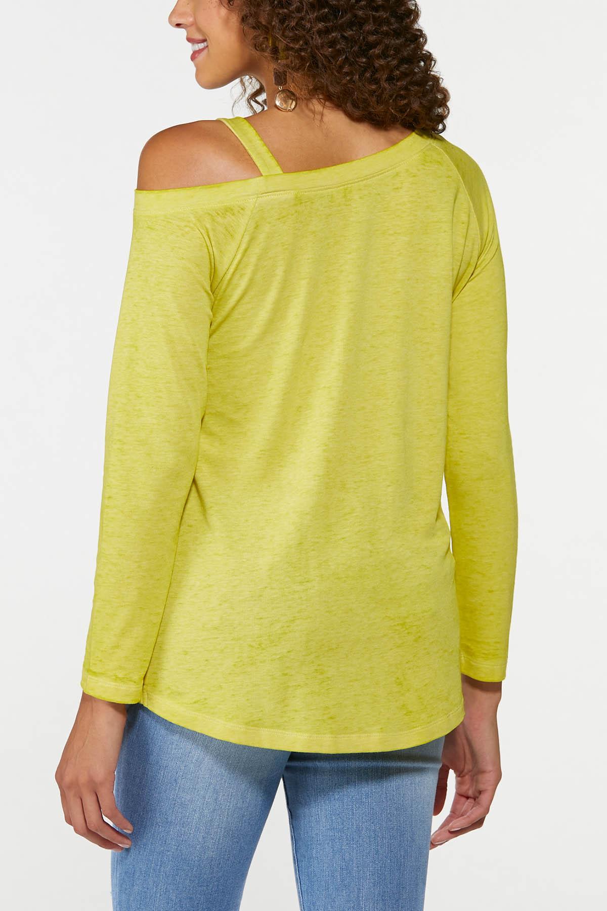 Plus Size One Shoulder Twist Top (Item #44741647)
