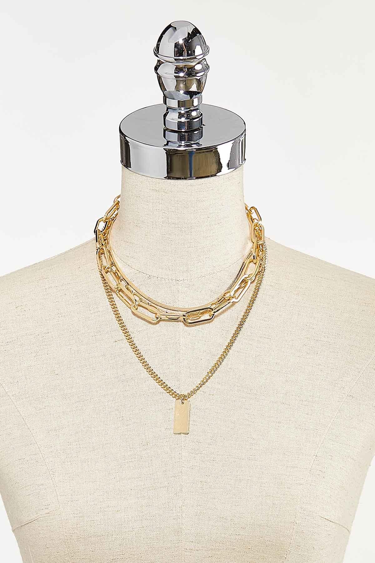 Layered Chunky Chain Necklace (Item #44742080)