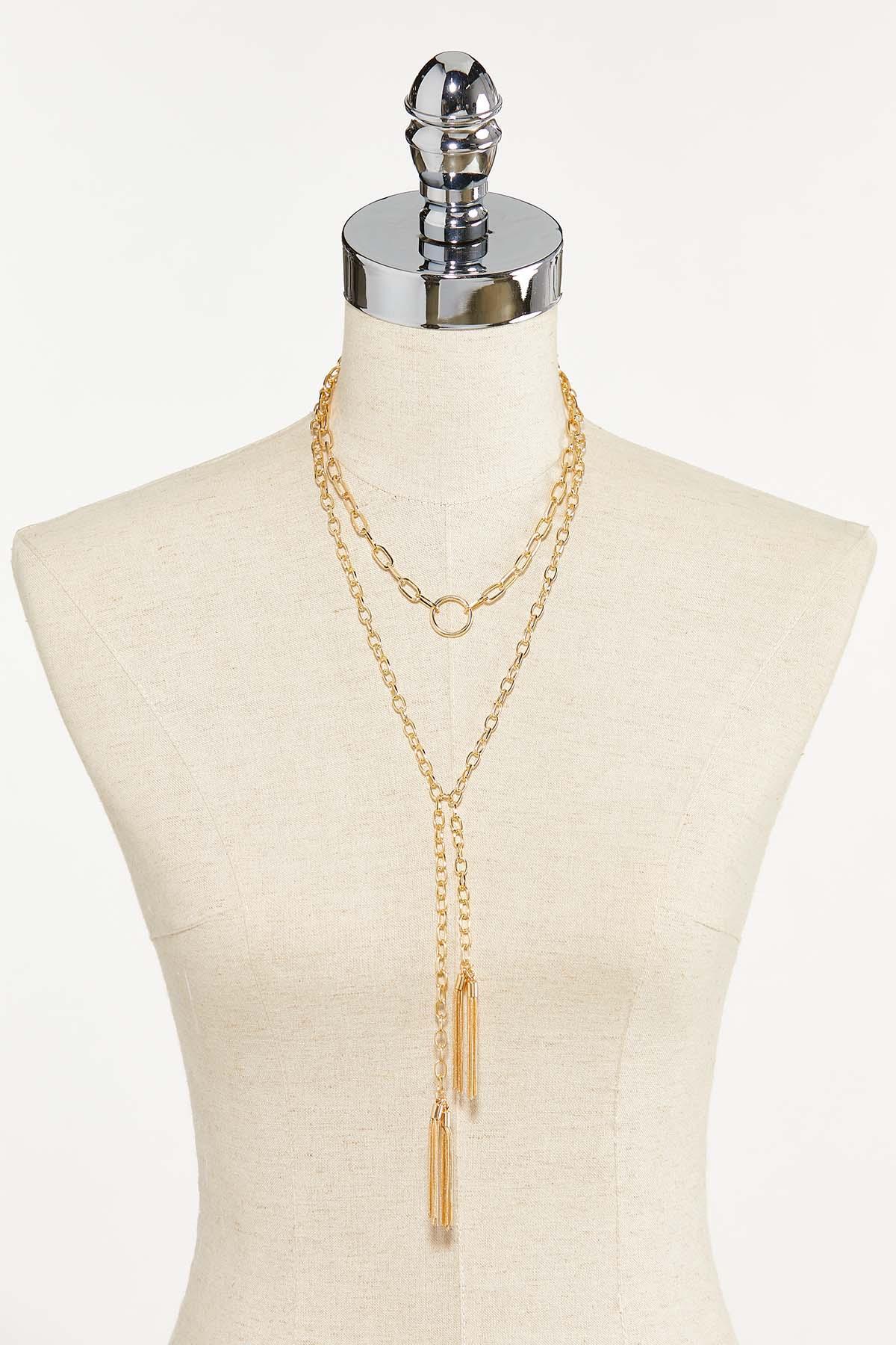 Layered Tassel Y-Necklace (Item #44742084)