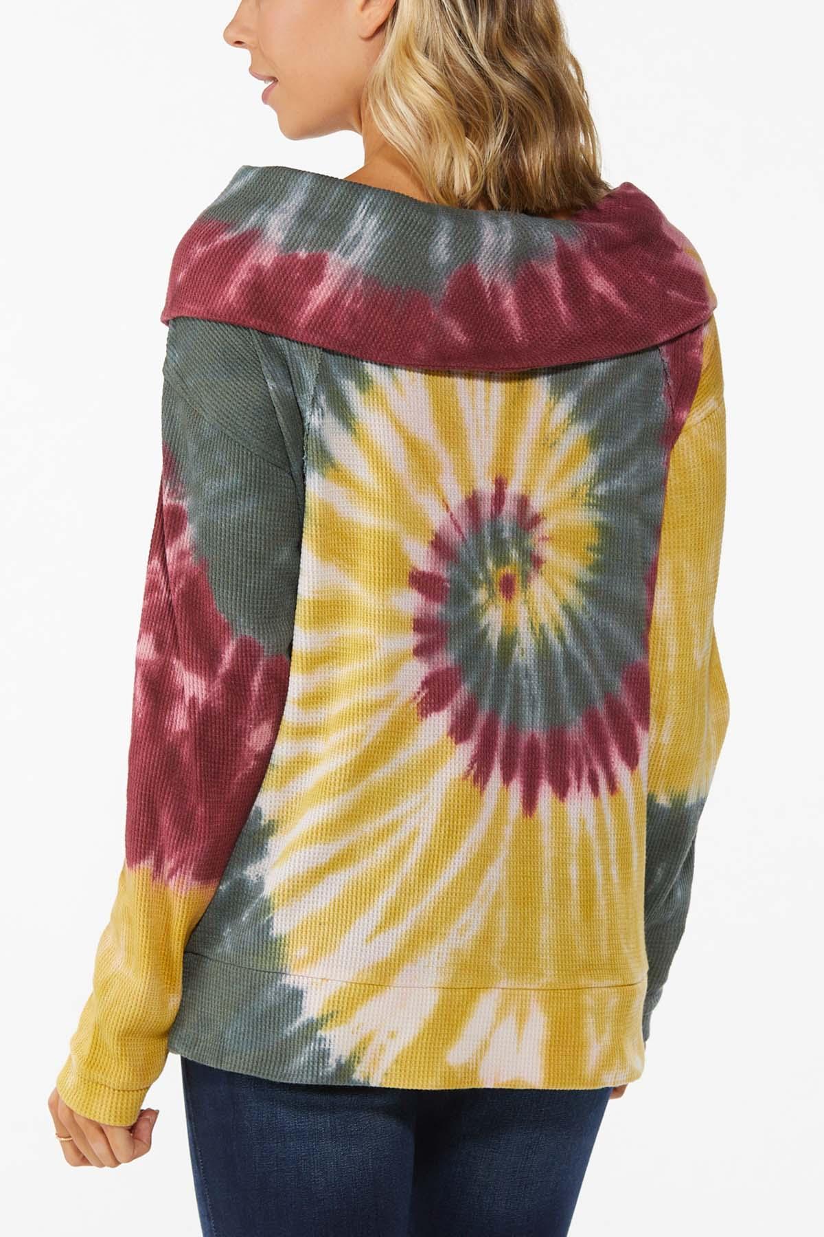 Tie Dye Cowl Neck Top (Item #44745654)