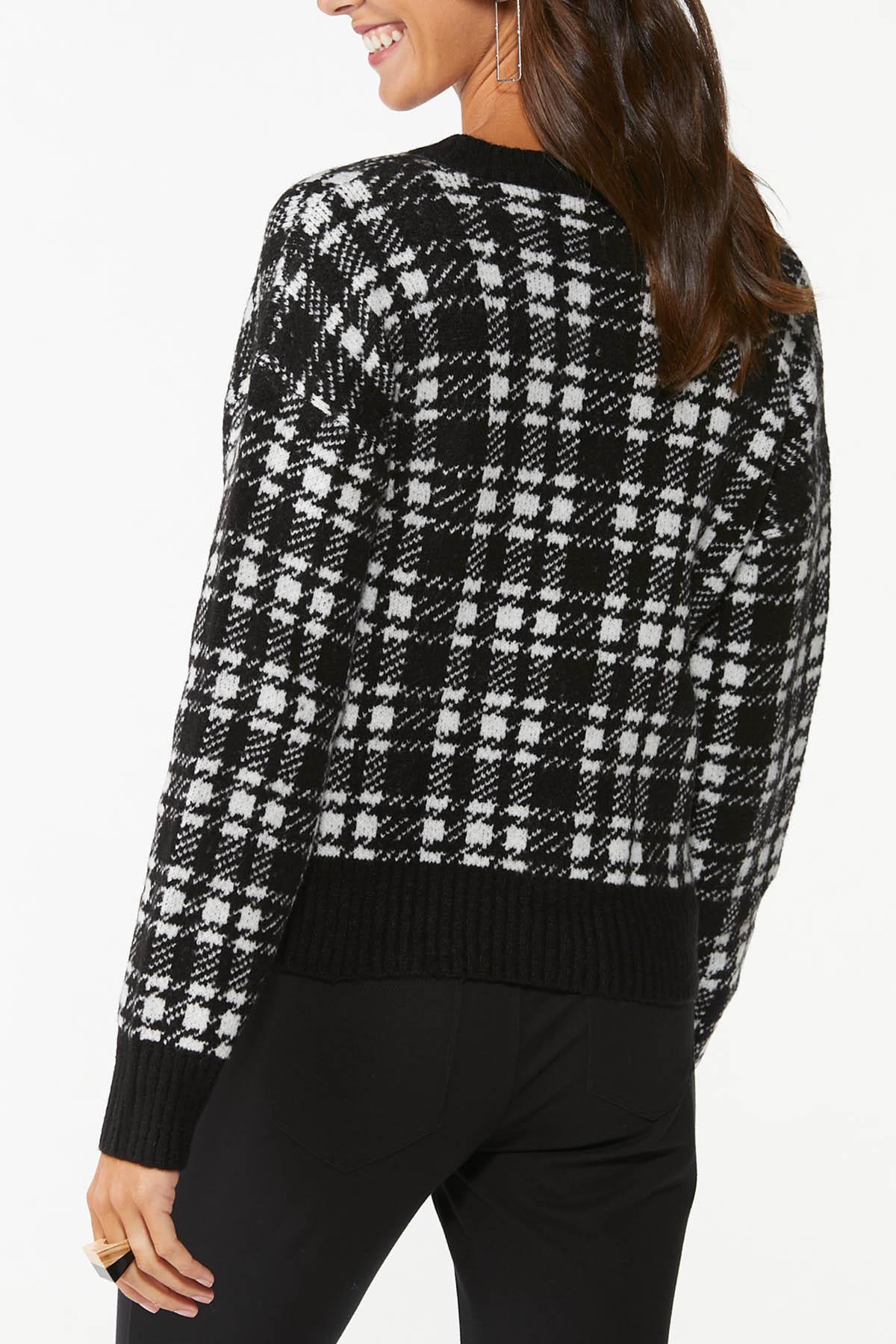 Houndstooth Cardigan Sweater (Item #44745831)