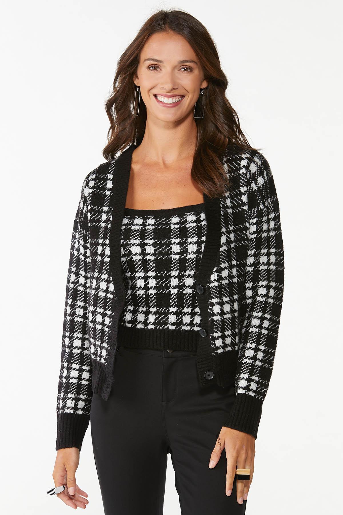 Houndstooth Sweater Tank (Item #44745922)