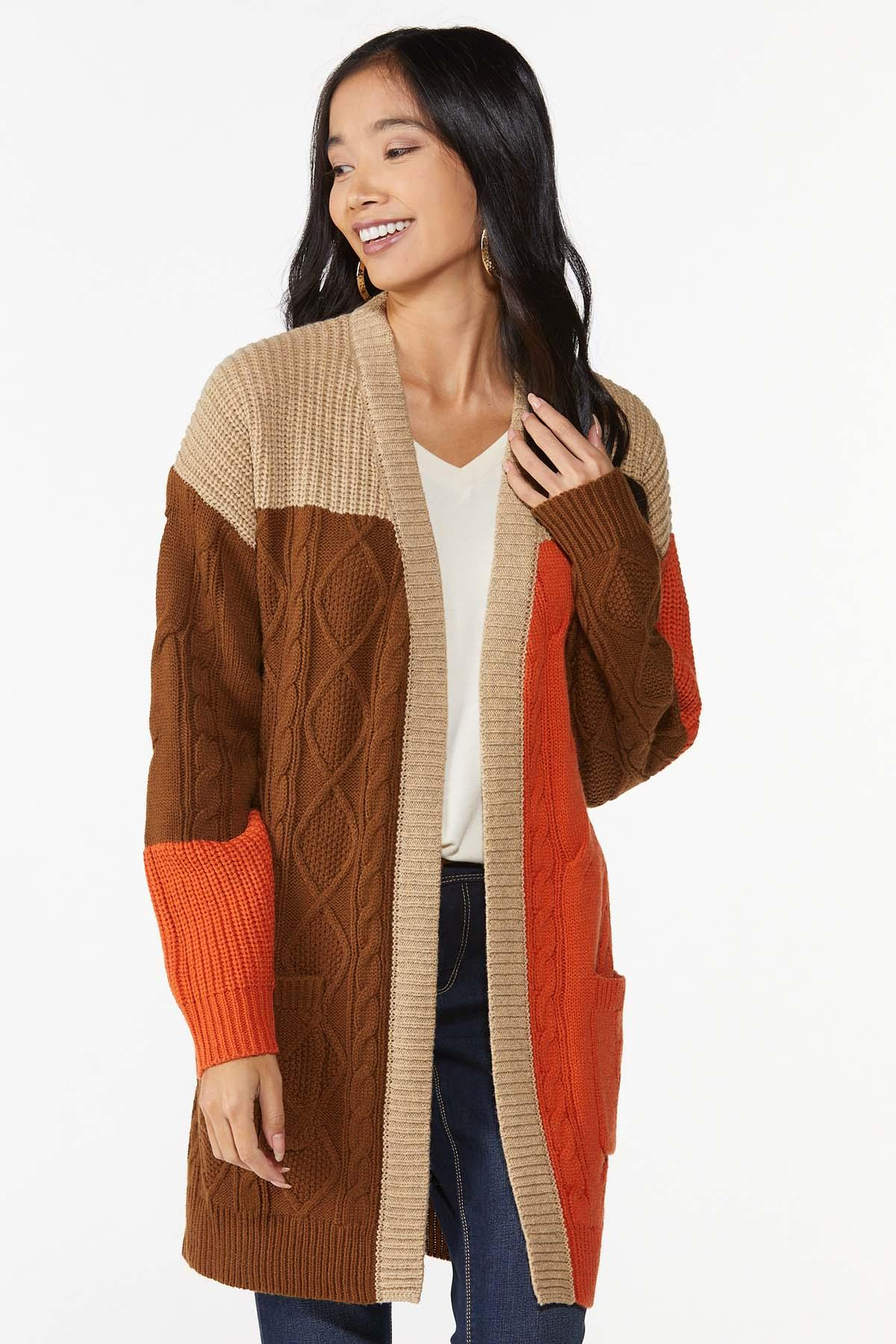 Autumn Colorblock Cardigan Sweater (Item #44746046)