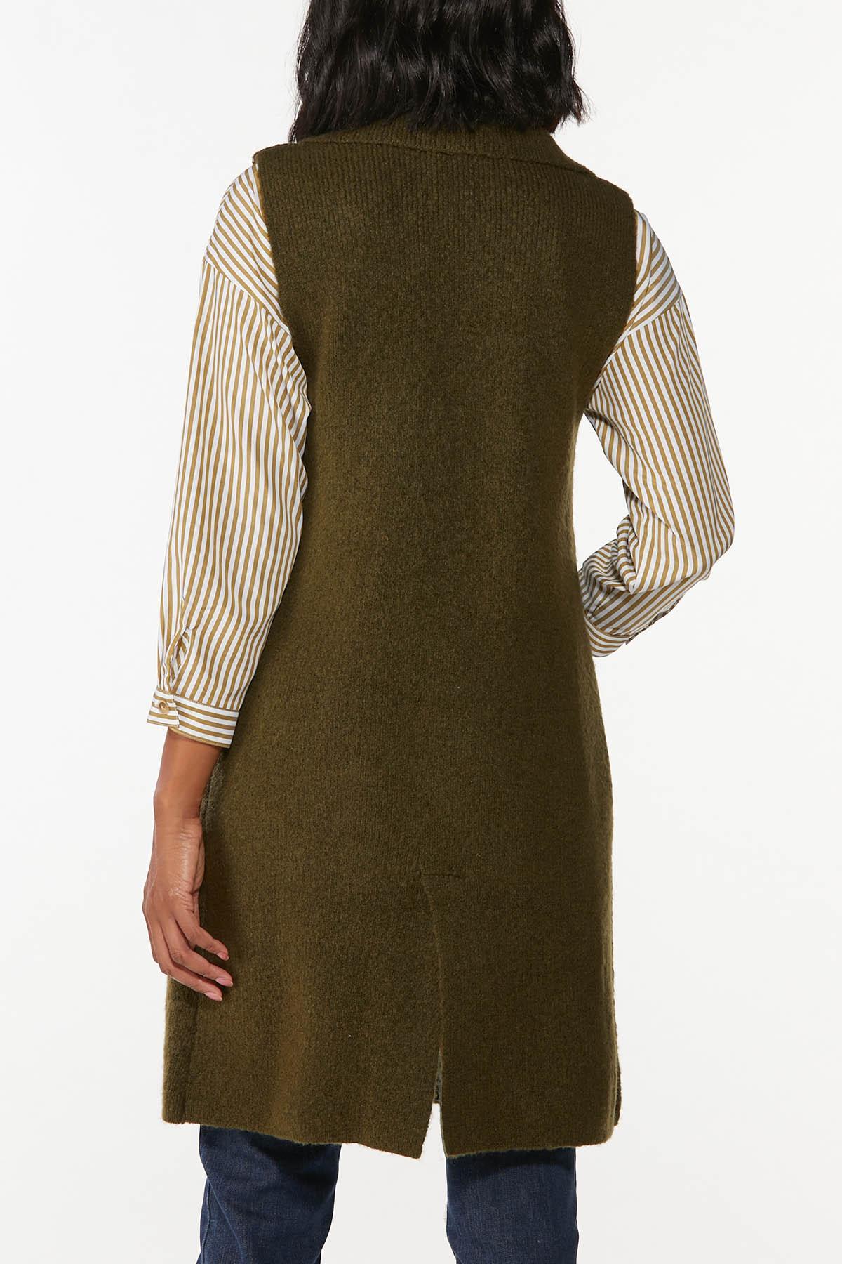 Olive Sweater Vest (Item #44746293)