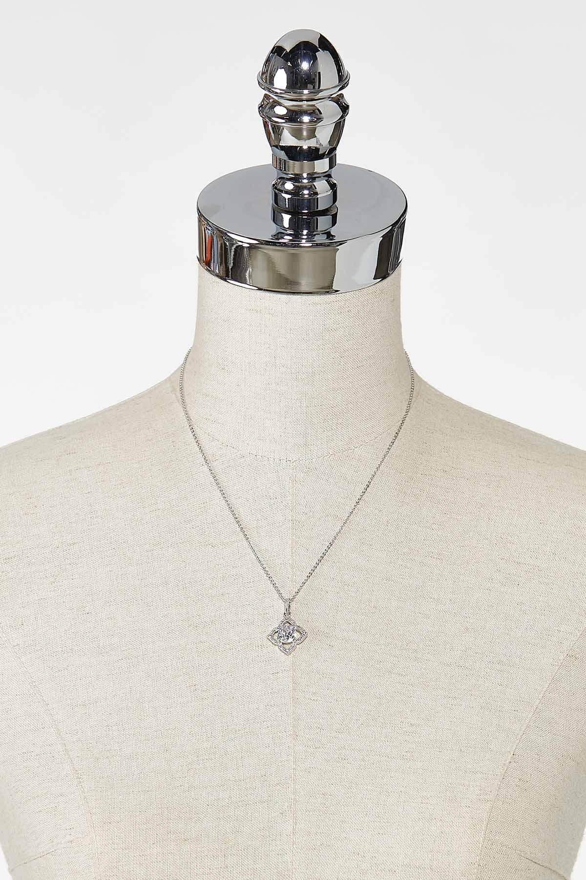 Cushion Cut Clover Necklace (Item #44746303)