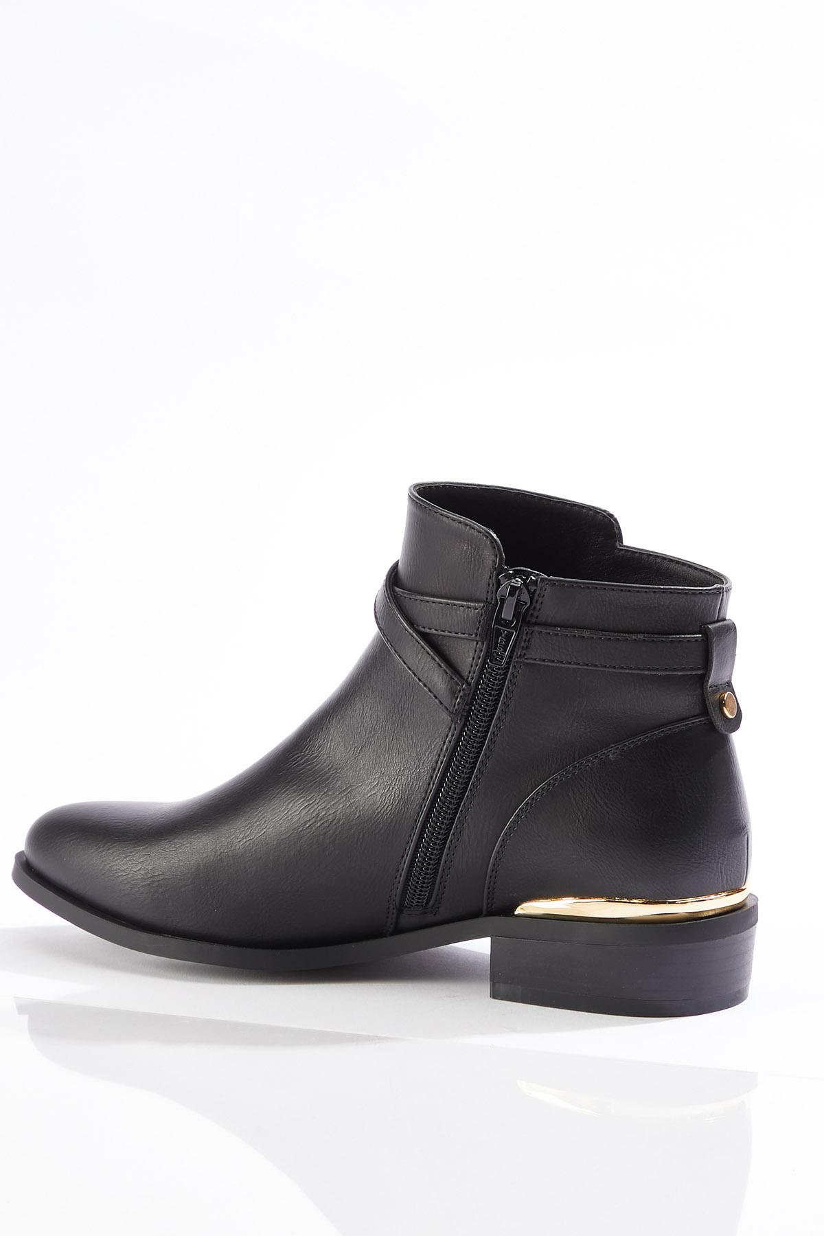 Wide Width Strappy Buckle Booties (Item #44749966)