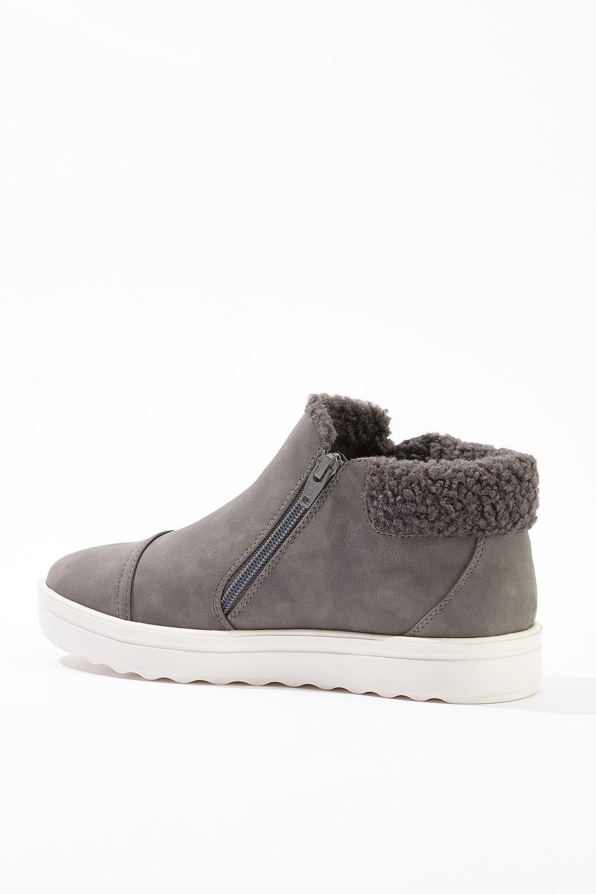 Sherpa Trim Zipper Sneakers (Item #44750439)