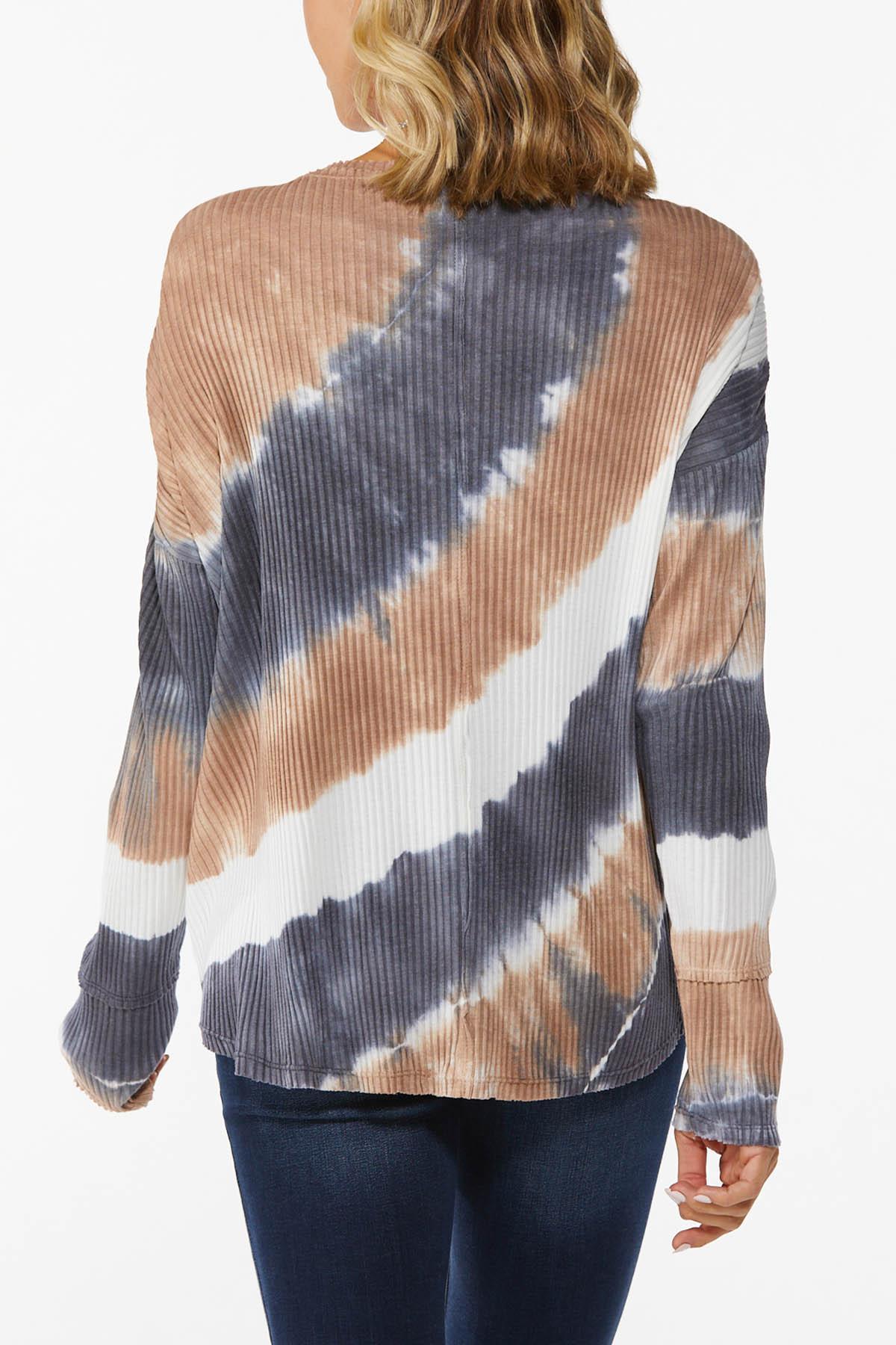 Plus Size Textured Tie Dye Top (Item #44753043)